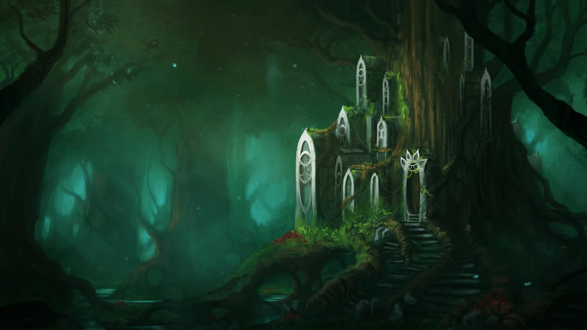 fantasy forest wallpaper hd (78+ images)