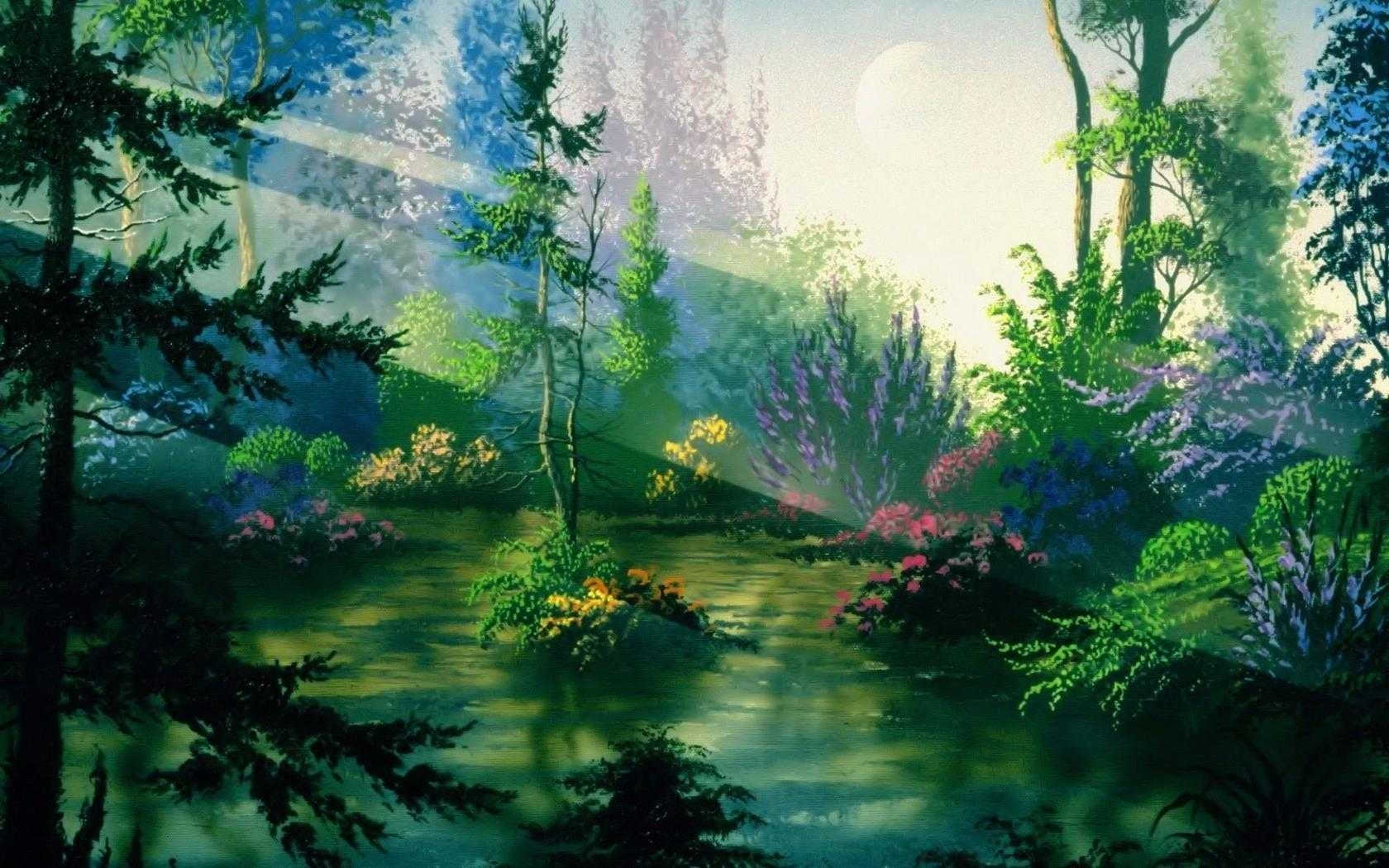 fantasy nature wallpaper backgrounds desktop for computer hd