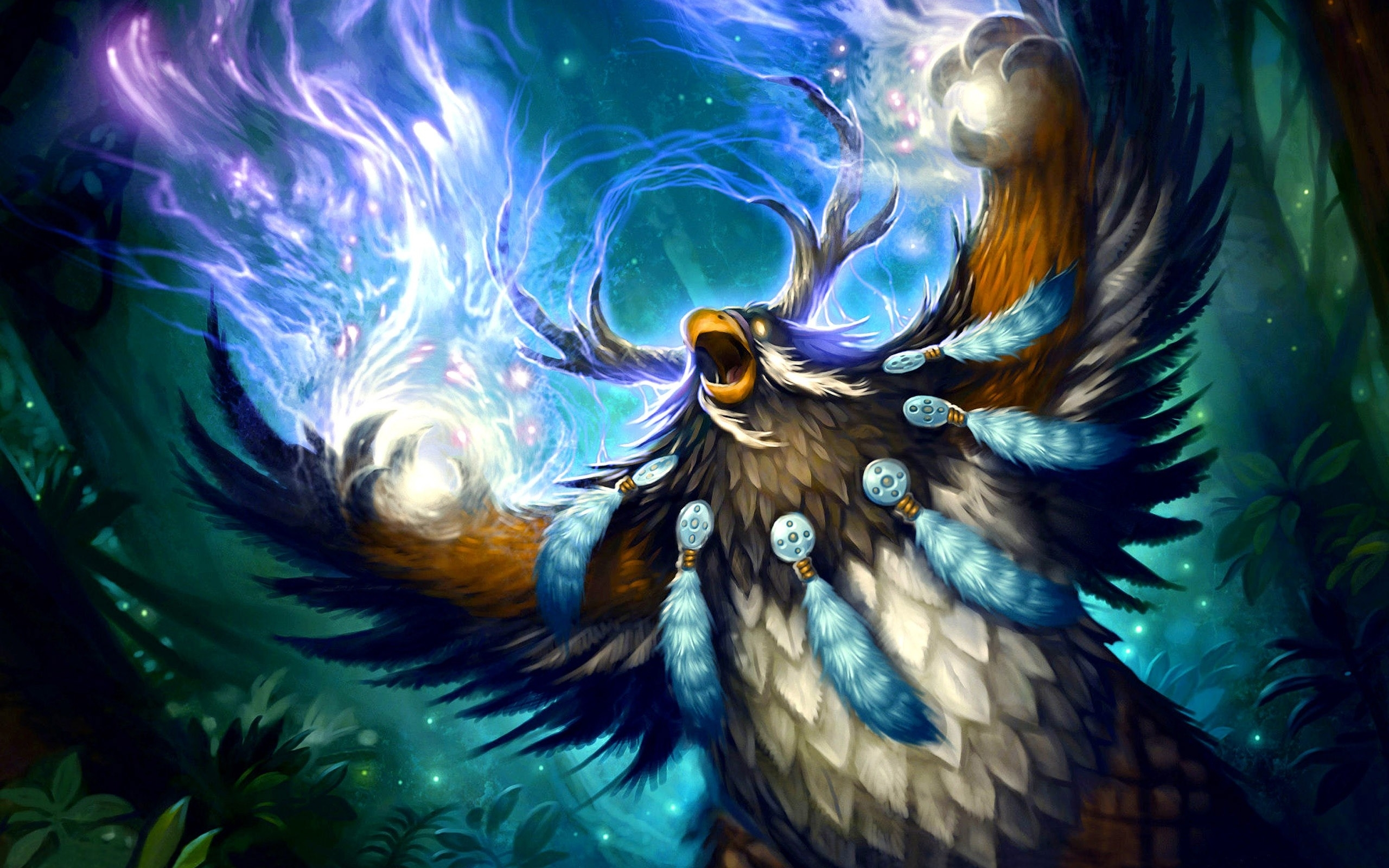 fantasy, world of warcraft, druid, 3d :: wallpapers