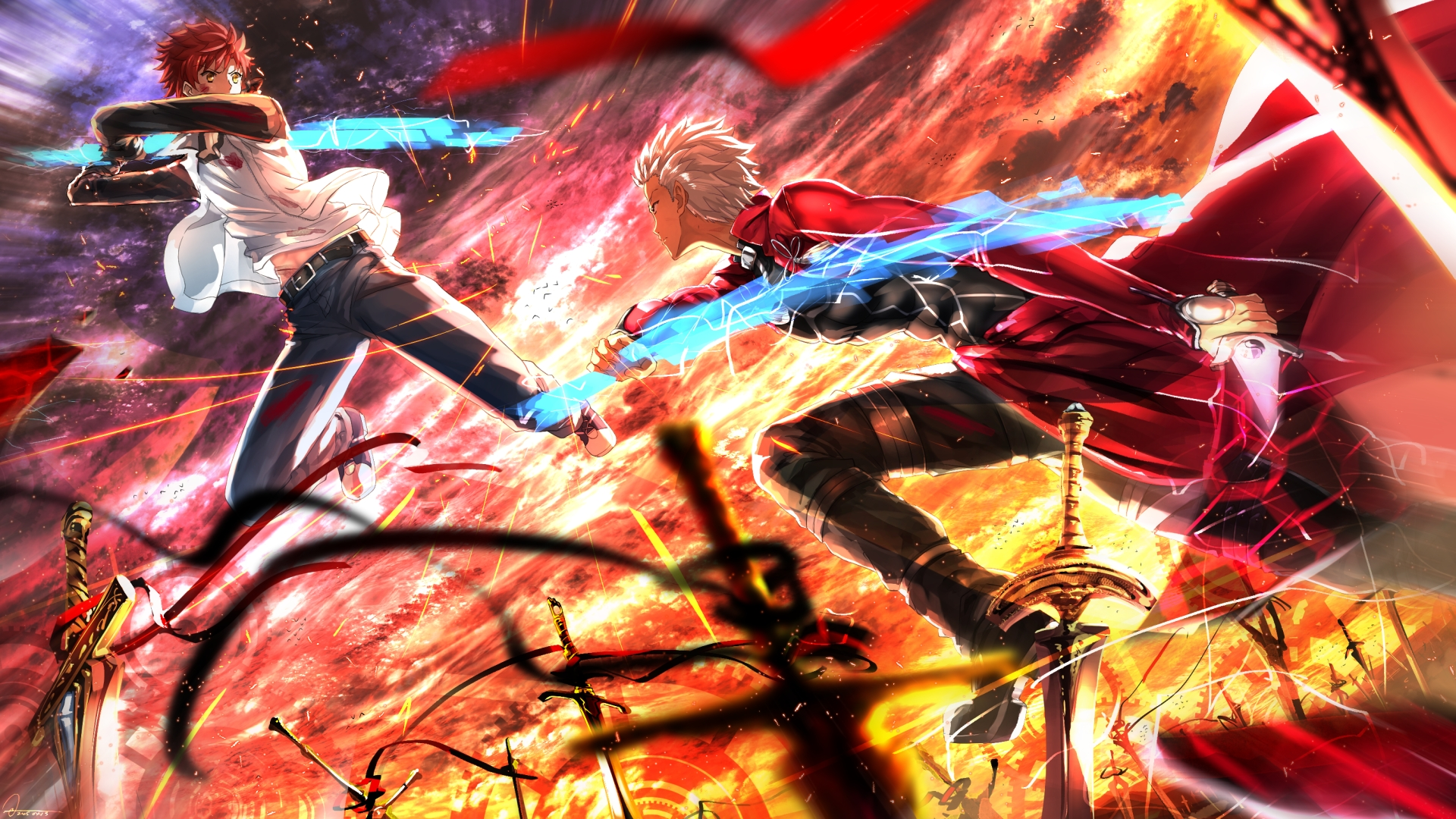 fate/stay night: unlimited blade works full hd wallpaper and
