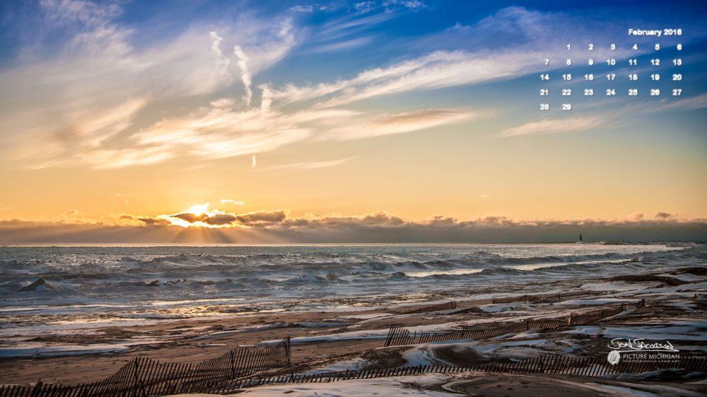 10 Latest February 2016 Calendar Wallpaper FULL HD 1920×1080 For PC Background 2021 free download february 2016 calendar desktop wallpaper lake michigan sunset 1024x576