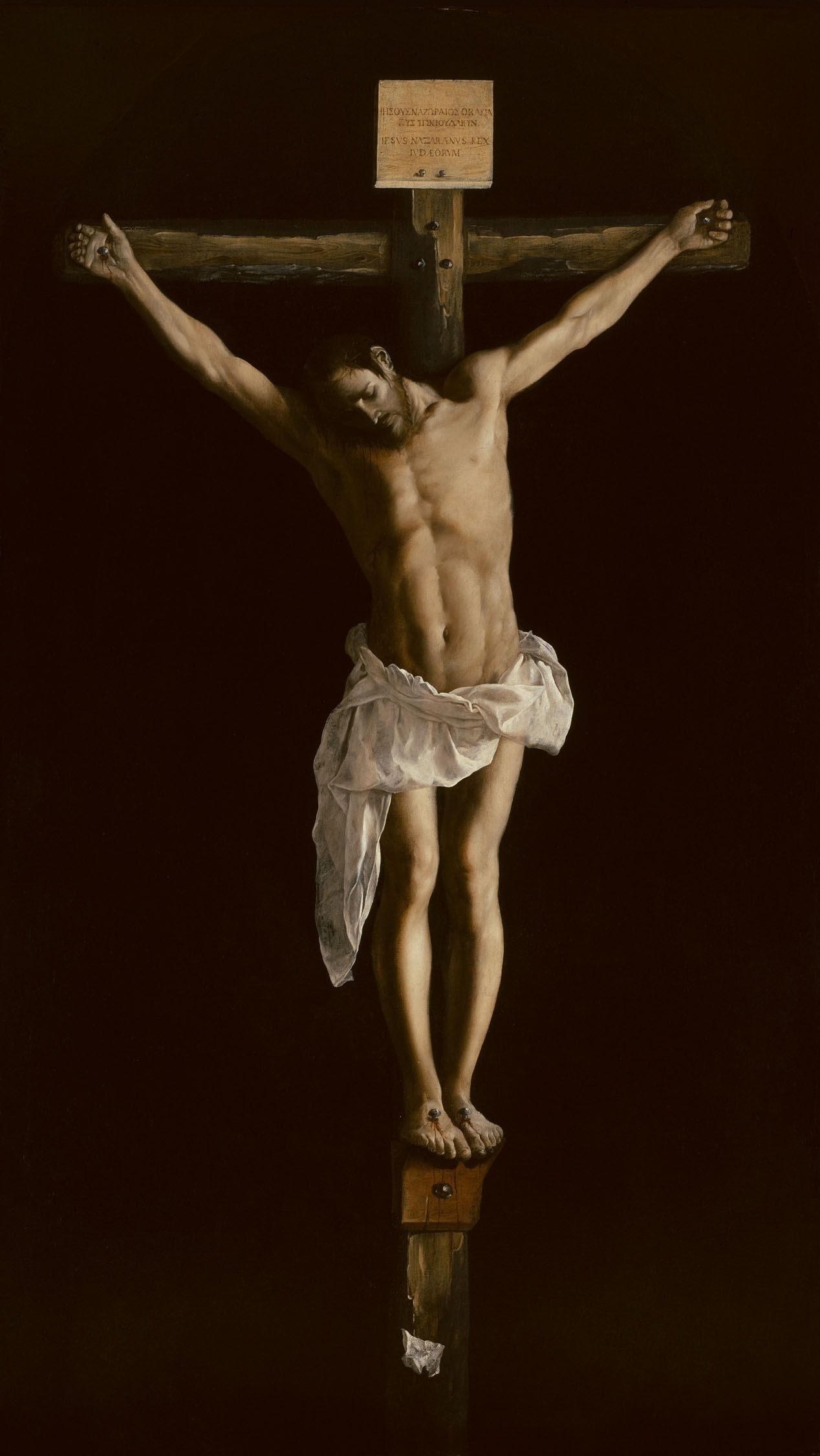 file:francisco de zurbarán - christ on the cross - wga26051