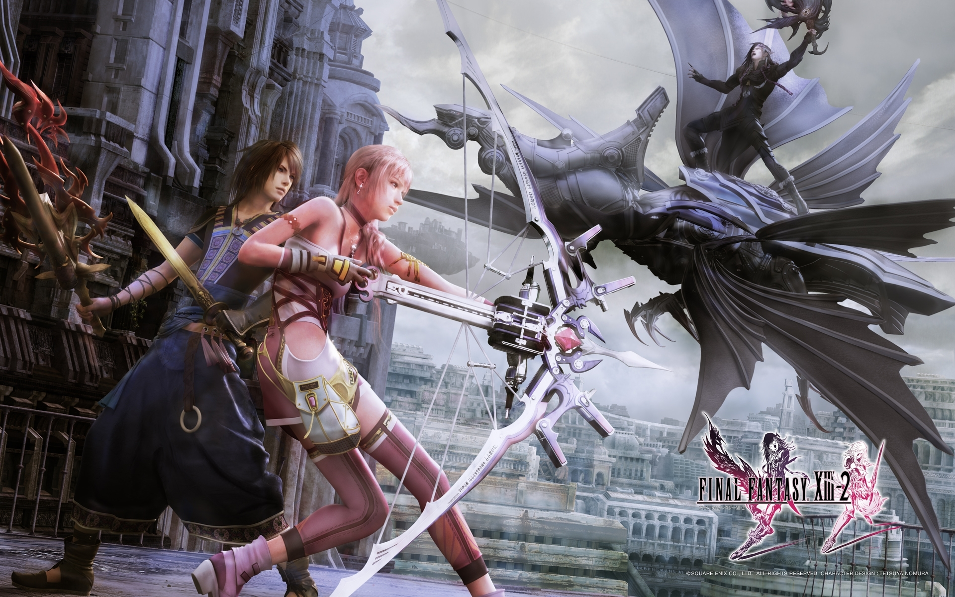 final fantasy xiii-2 wallpapers - lightning, serah, noel, mog