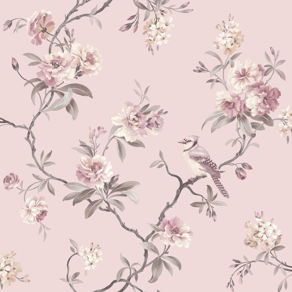 10 Most Popular Pink Floral Wall Paper FULL HD 1920×1080 For PC Desktop 2018 free download fine decor chic floral chinoiserie bird wallpaper in grey teal 1024x1024