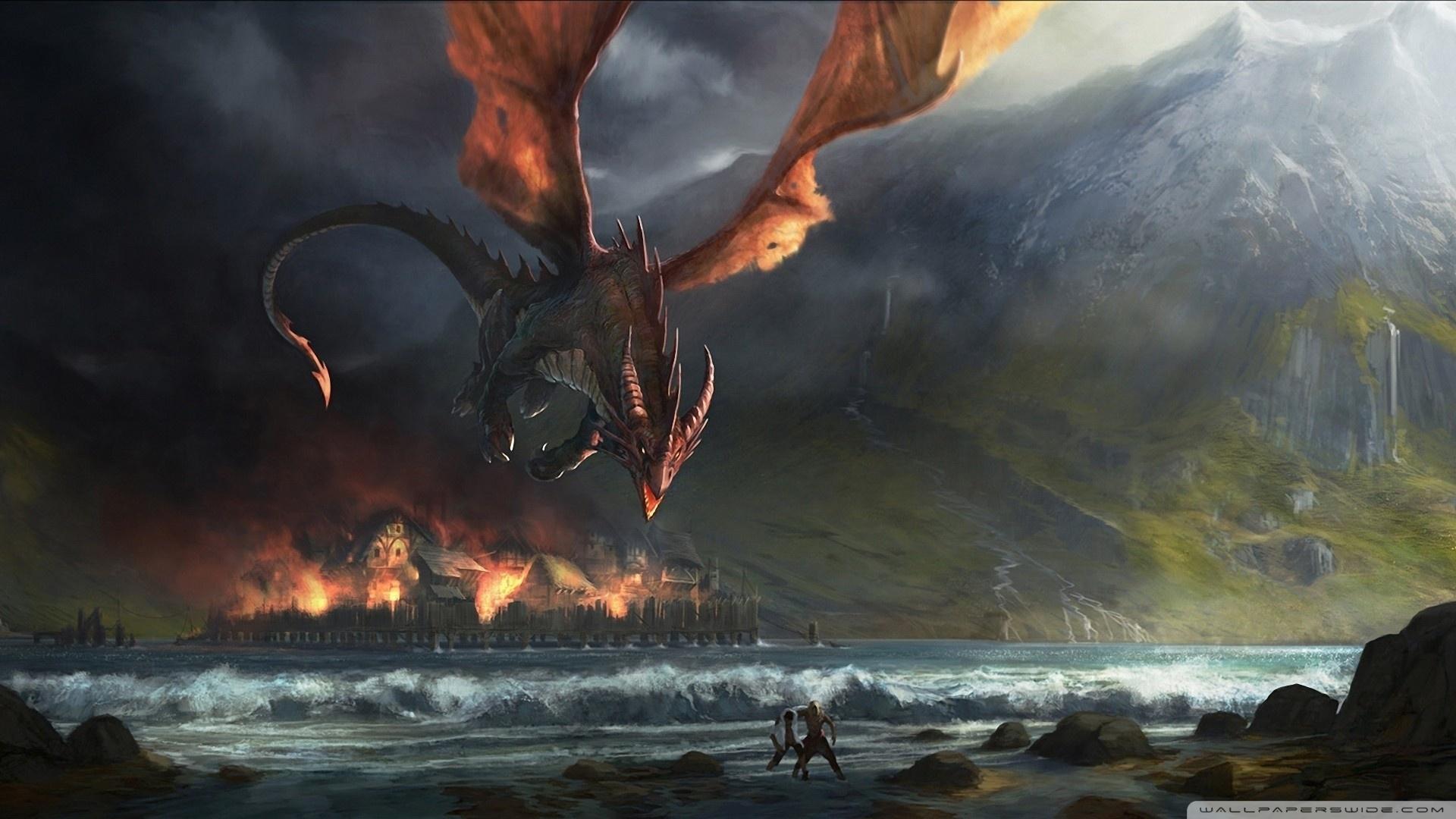 fire dragon ❤ 4k hd desktop wallpaper for 4k ultra hd tv • wide