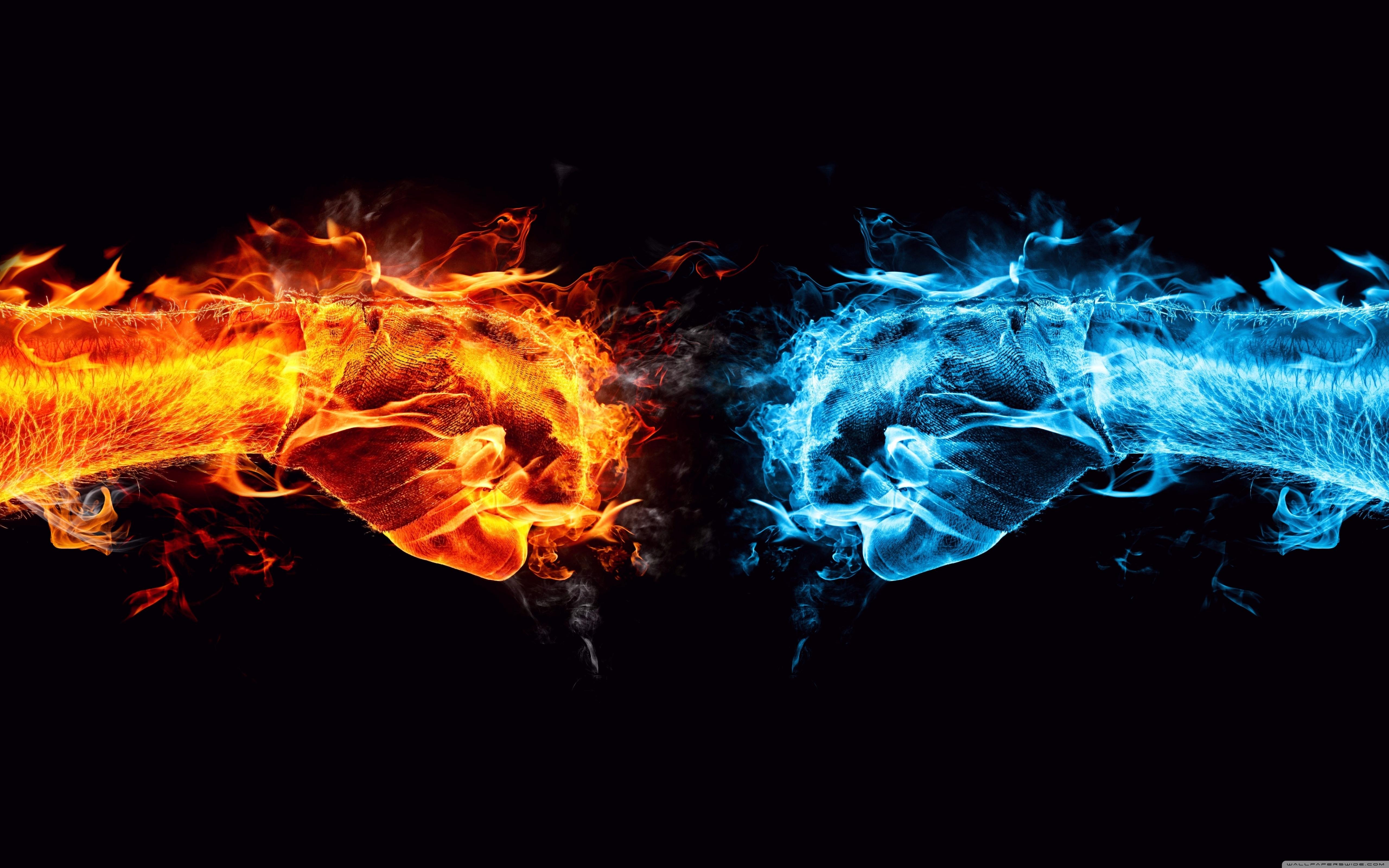 fire fist vs water fist ❤ 4k hd desktop wallpaper for 4k ultra hd