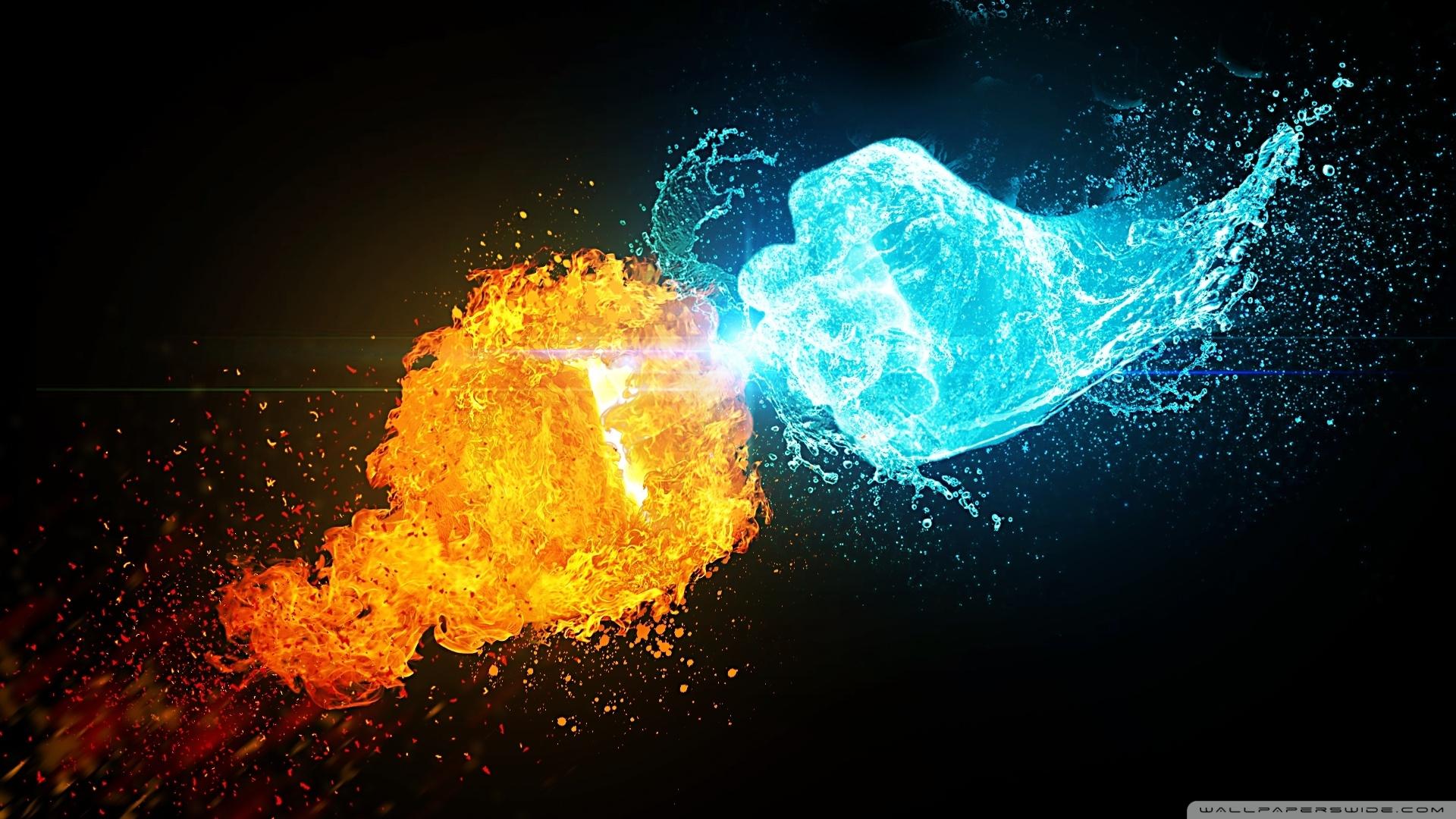 fire vs ice ❤ 4k hd desktop wallpaper for 4k ultra hd tv • wide