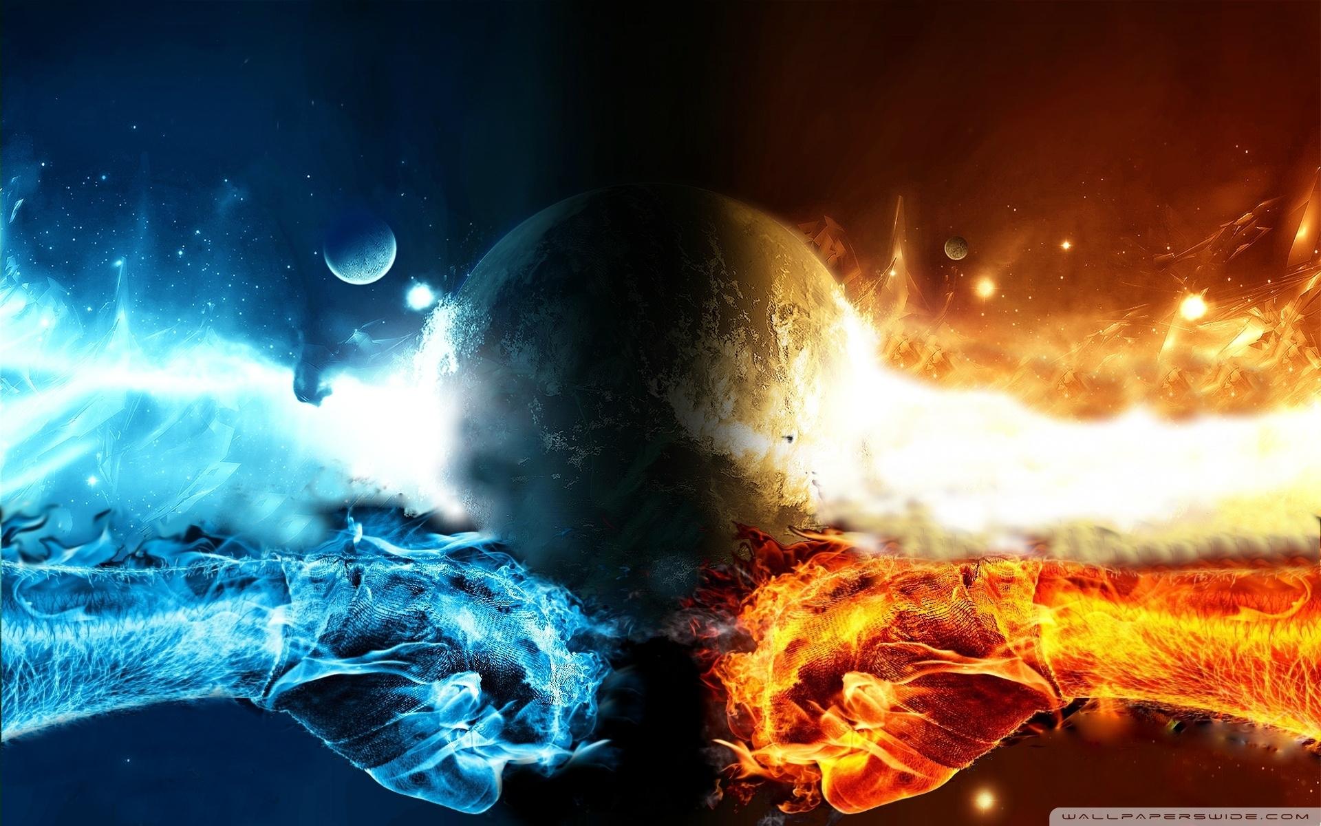 fire vs water ❤ 4k hd desktop wallpaper for 4k ultra hd tv