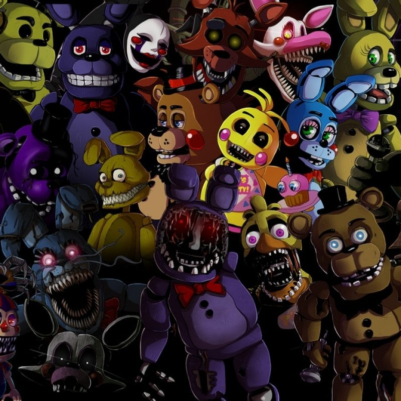 10 Top Five Night At Freddy Wallpaper FULL HD 1920×1080 For PC Background 2020 free download five nights at freddys animatronics wallpaperladyfiszi on 1 800x800