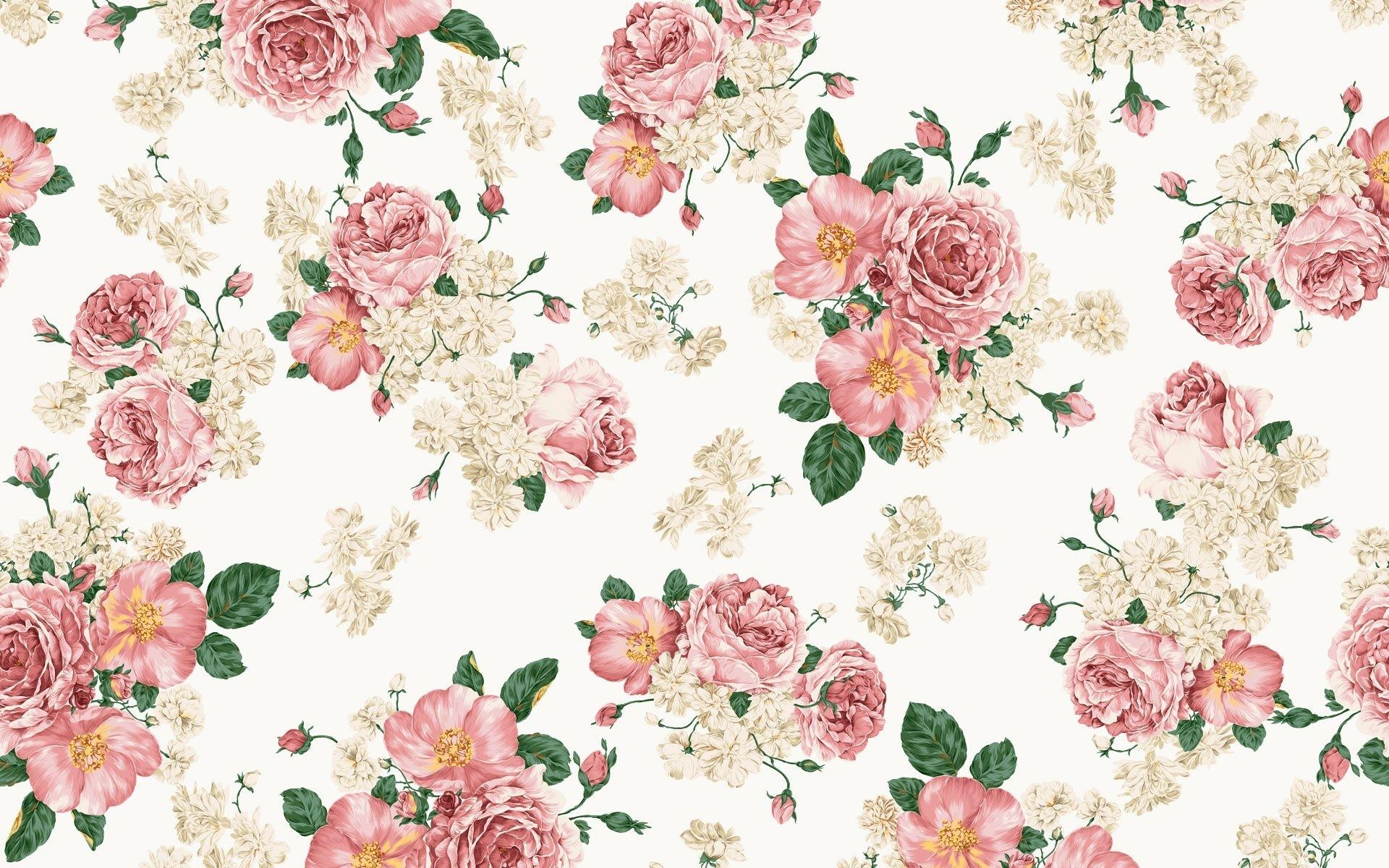 10 Most Popular Vintage Floral Pattern Desktop Wallpaper FULL HD 1920×1080 For PC Background