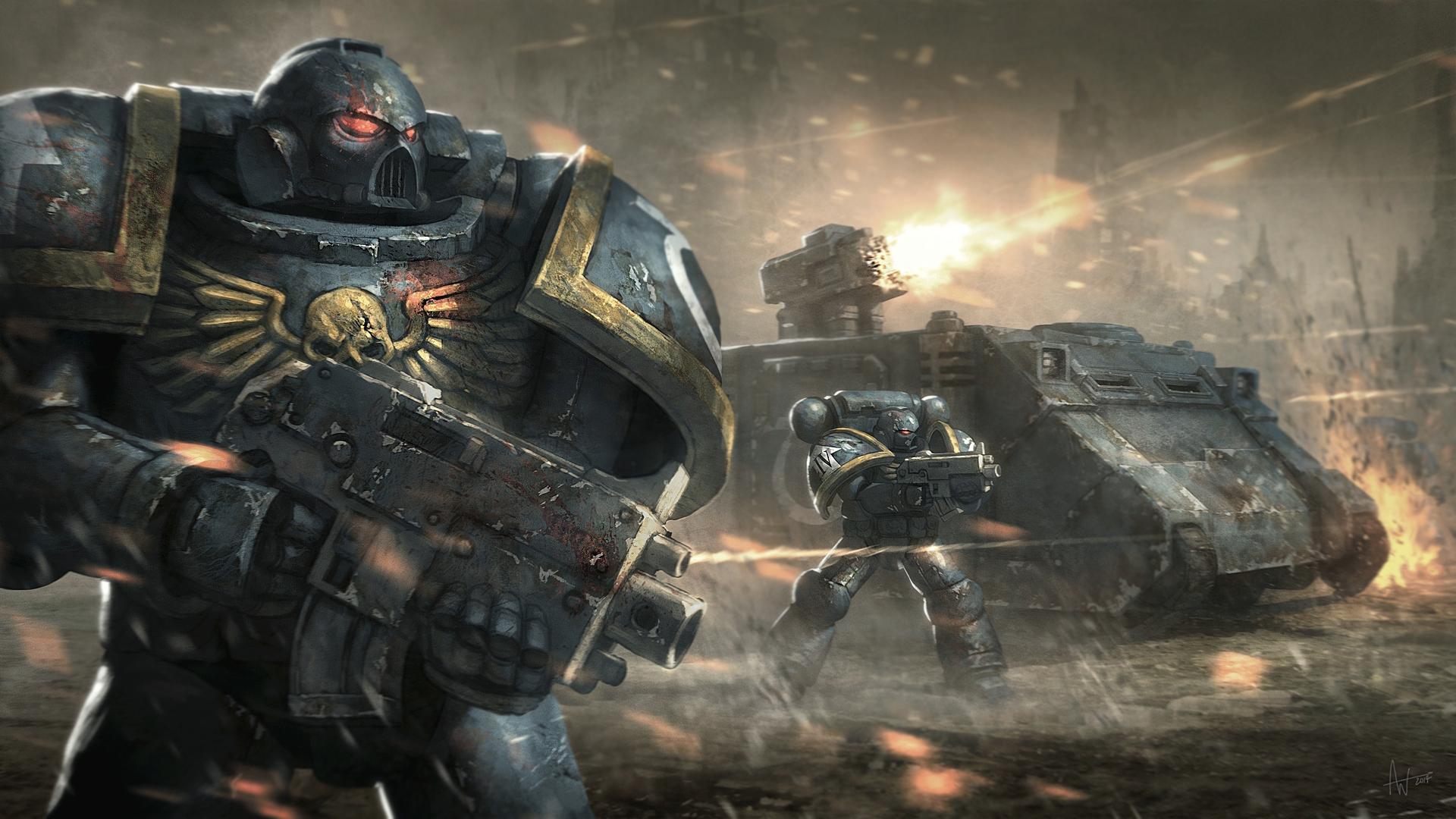 fond d'écran : bataille, warhammer 40 000, ultramarines, jeux