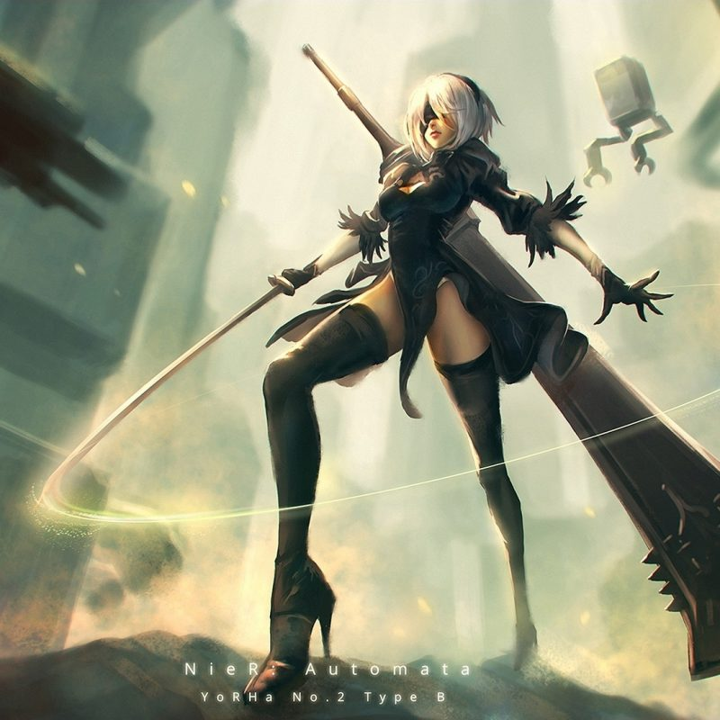 10 Top Nier Automata Wallpaper 2B FULL HD 1080p For PC Desktop 2018 free download fond decran femmes jeux video art numerique ouvrages dart 800x800
