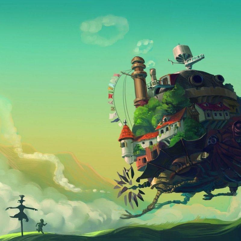 10 Best Studio Ghibli Wallpaper 1920X1080 FULL HD 1080p For PC Background 2021 free download fond decran hauru no ugoku shiro studio ghibli art 1920x1080 800x800