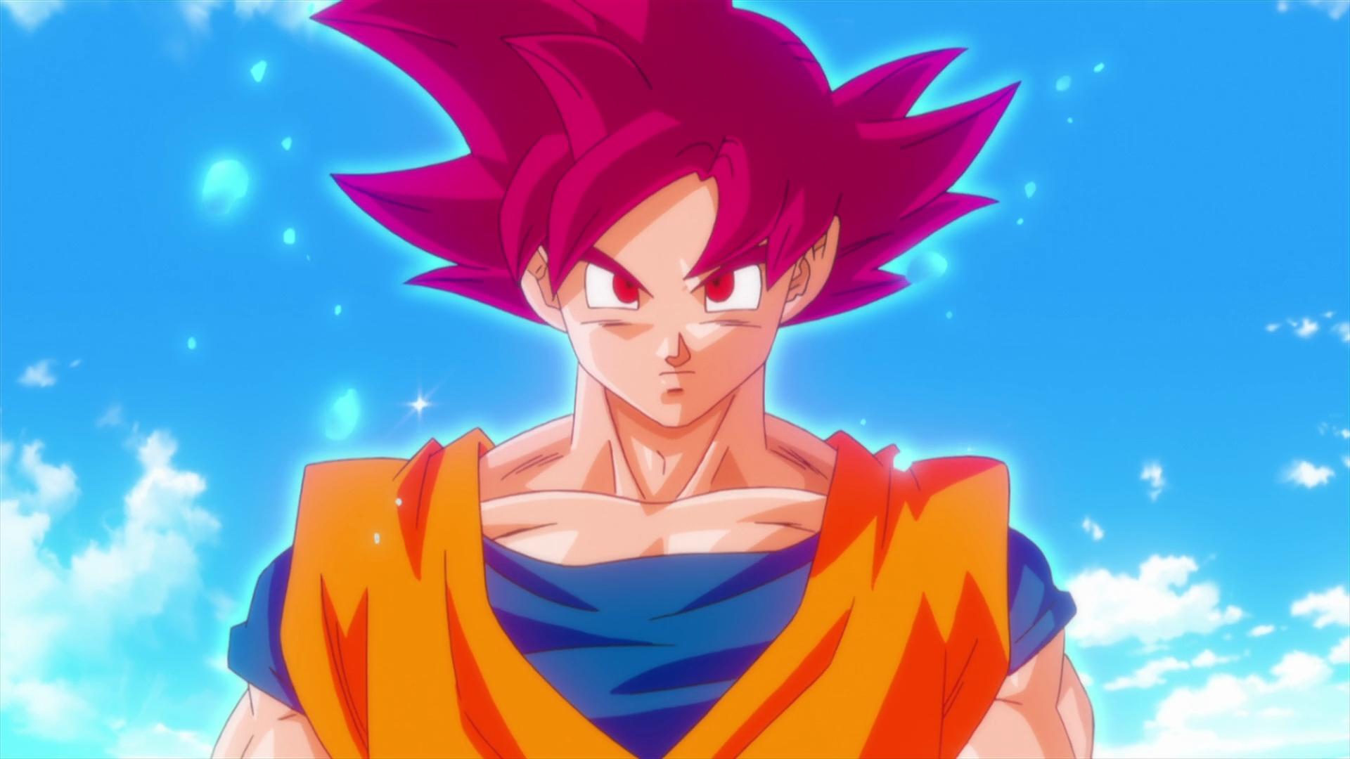 fond d'écran : illustration, anime, les yeux rouges, son goku