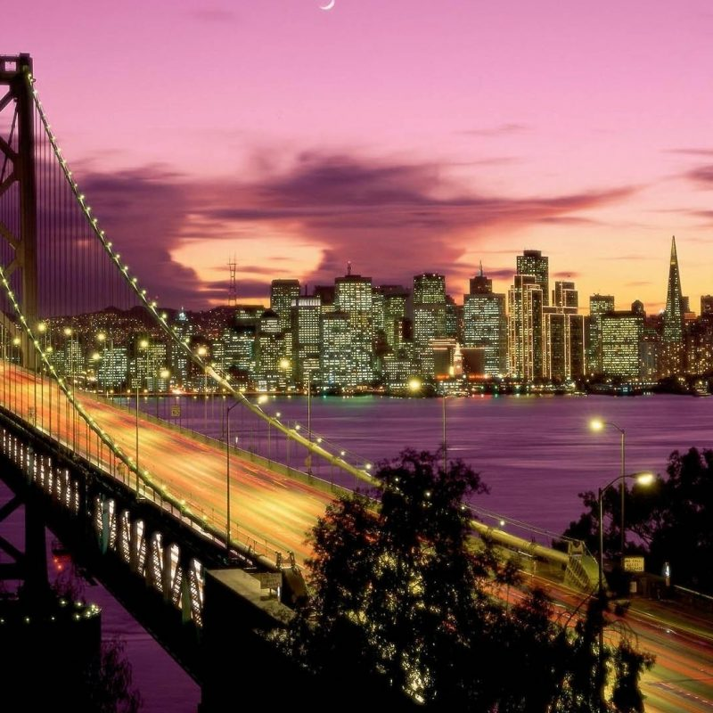 10 Best San Francisco 1920X1080 FULL HD 1080p For PC Background 2018 free download fond decran san francisco bay bridge pont nuit grattes ciels 800x800