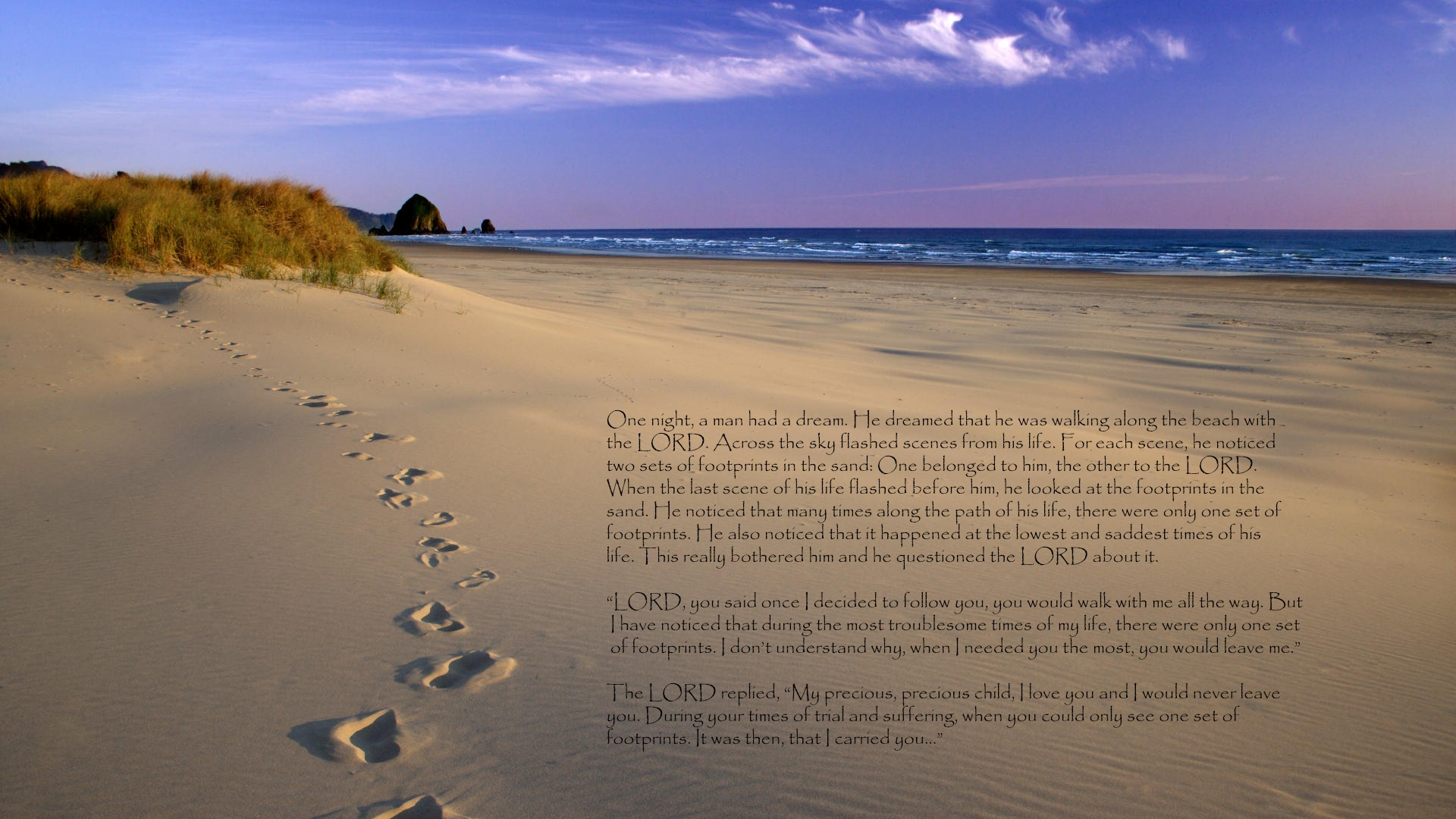 footprints in the sand full hd wallpaper and background image