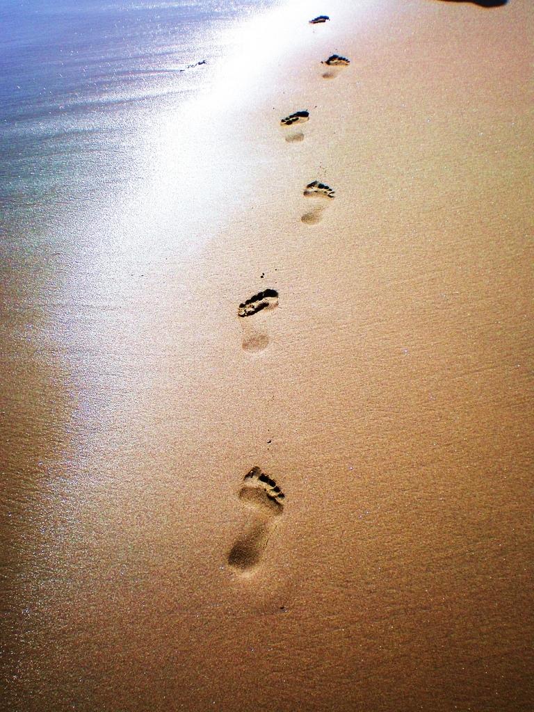 footprints in the sand wallpaper hd-2 | ocean/ beaches | pinterest