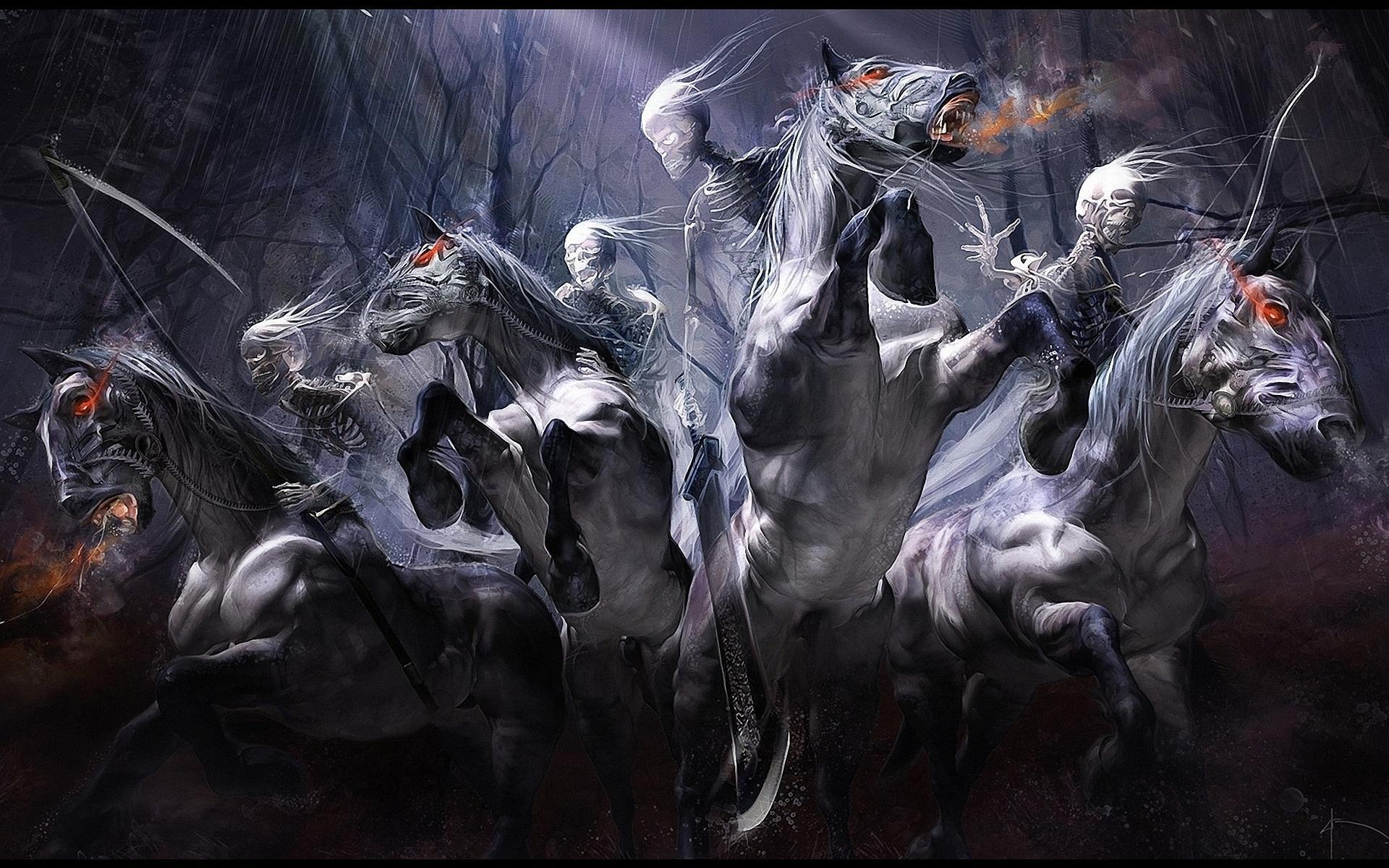 four horsemen of the apocalypse wallpaper darksiders hd wallpaper