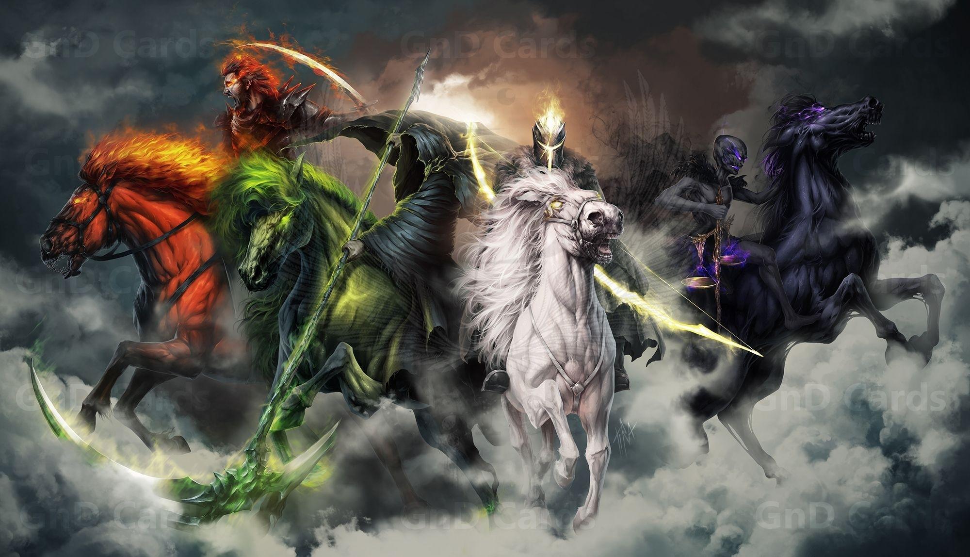 four horsemen of the apocalypsetira-owl.deviantart on