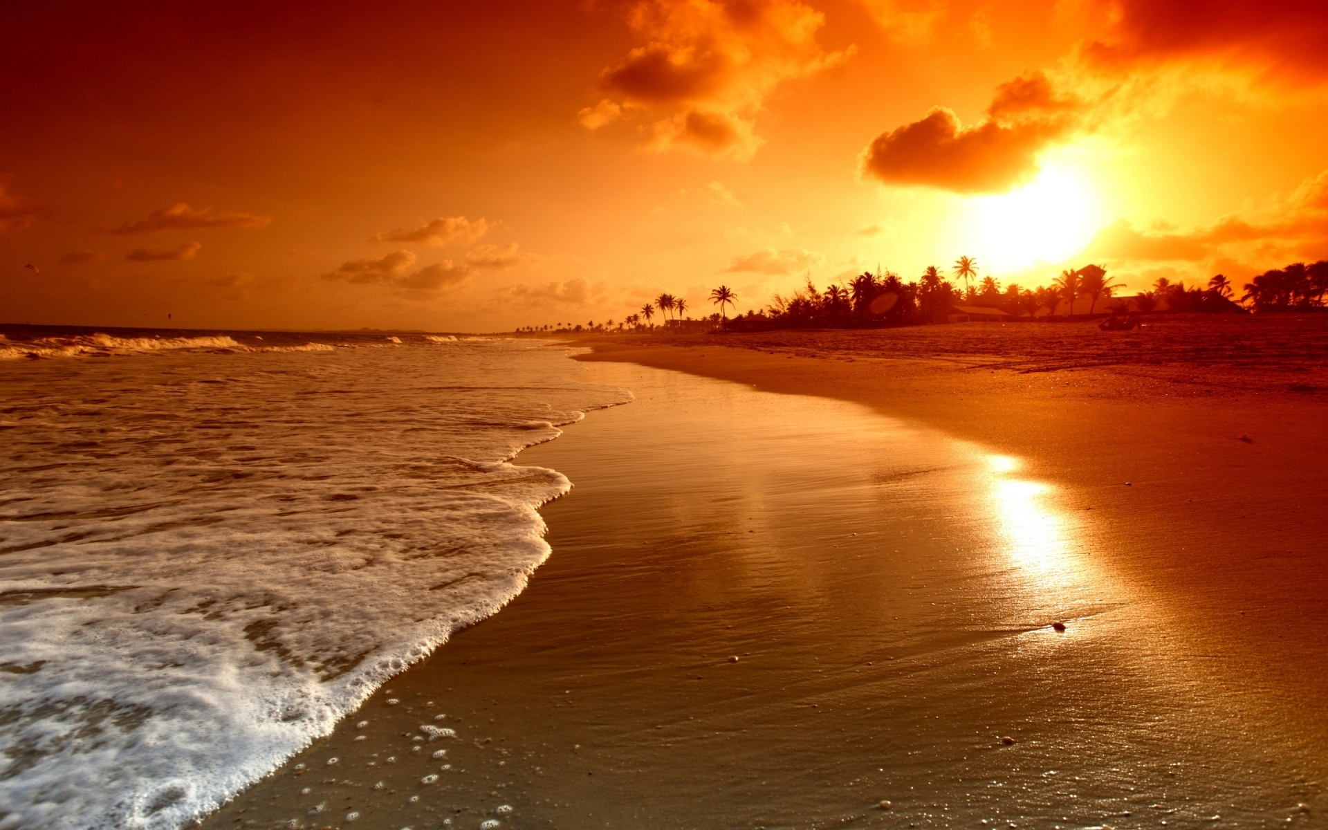 free beach sunset wallpapers desktop « long wallpapers