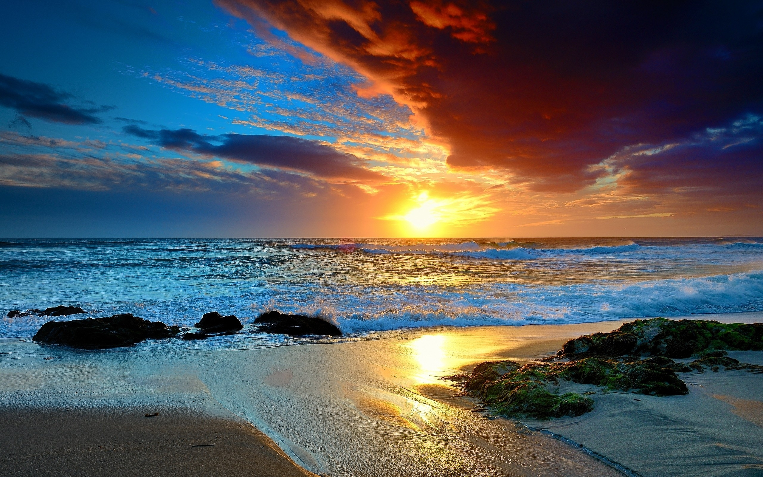 free beach sunset wallpapers « long wallpapers