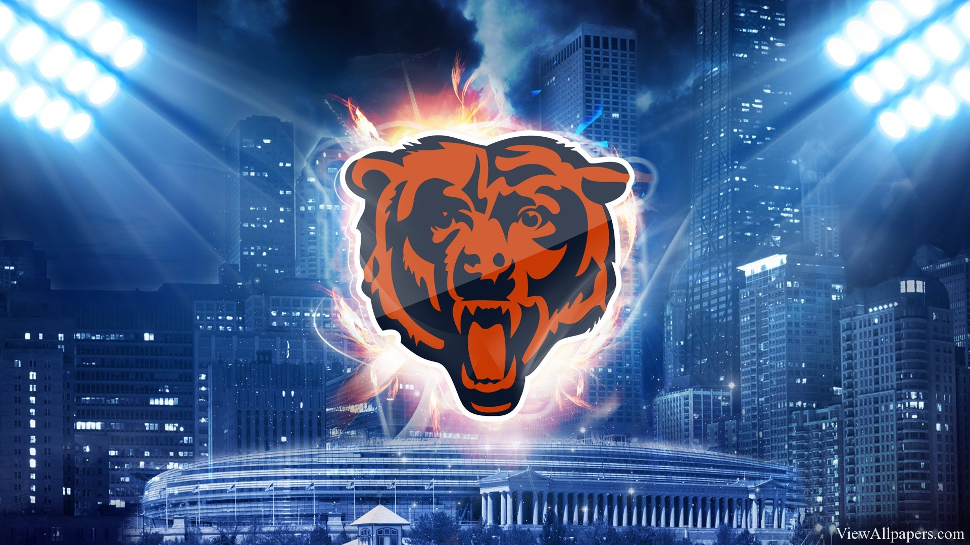 free chicago bears wallpaper downloads - wallpapersafari