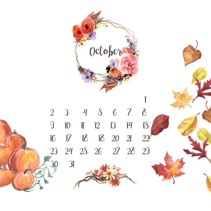 10 Most Popular October 2016 Desktop Wallpaper FULL HD 1920×1080 For PC Desktop 2018 free download free desktop calendar background october live love simple 800x800