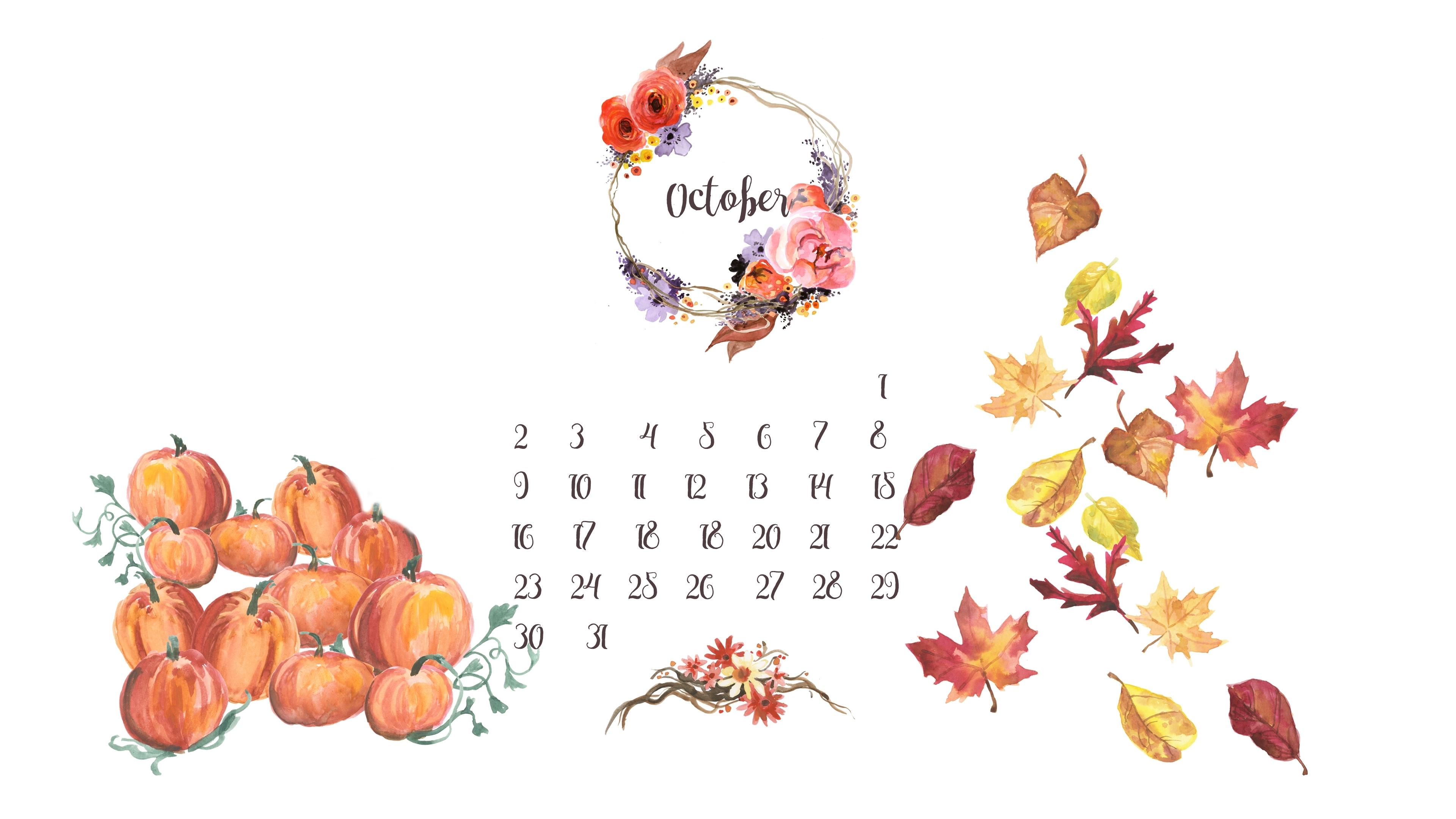 free desktop calendar background // october – live, love, simple.