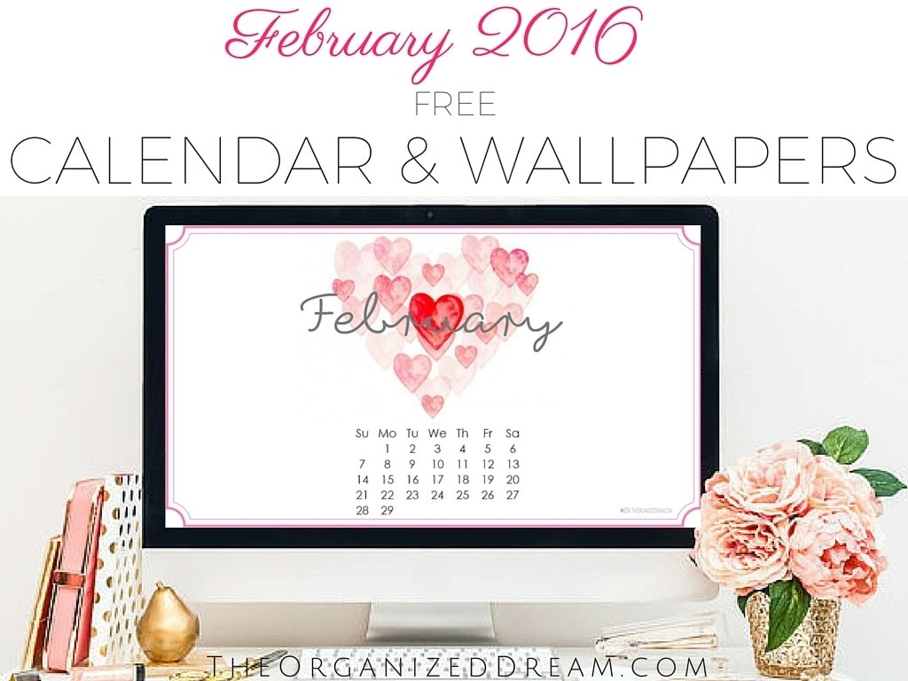 10 Latest February 2016 Calendar Wallpaper FULL HD 1920×1080 For PC Background 2018 free download free february 2016 calendar printable and wallpapers the 1024x768