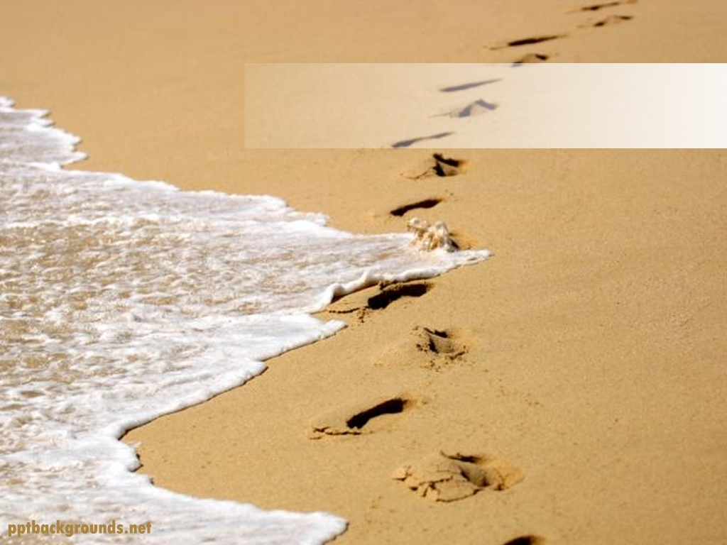 free footprints in the sand backgrounds for powerpoint - holiday ppt