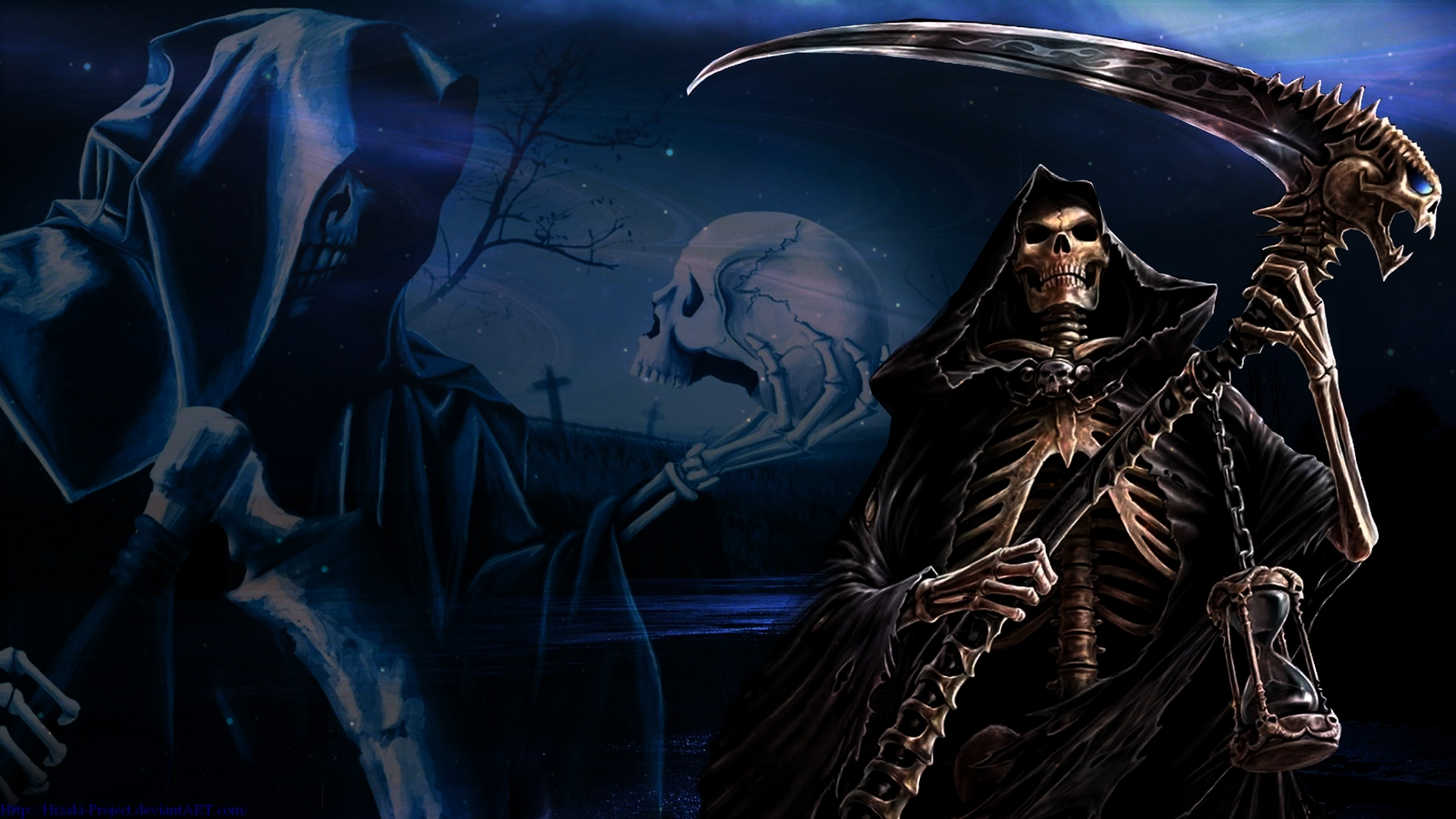 free grim reaper on horse wallpapers photo « long wallpapers
