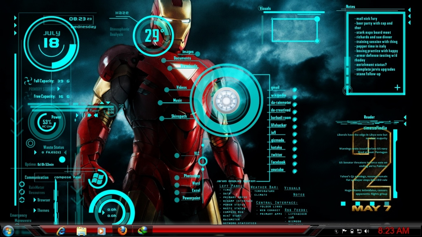 10 Best Iron Man Jarvis Wallpaper Hd FULL HD 1920×1080 For ...