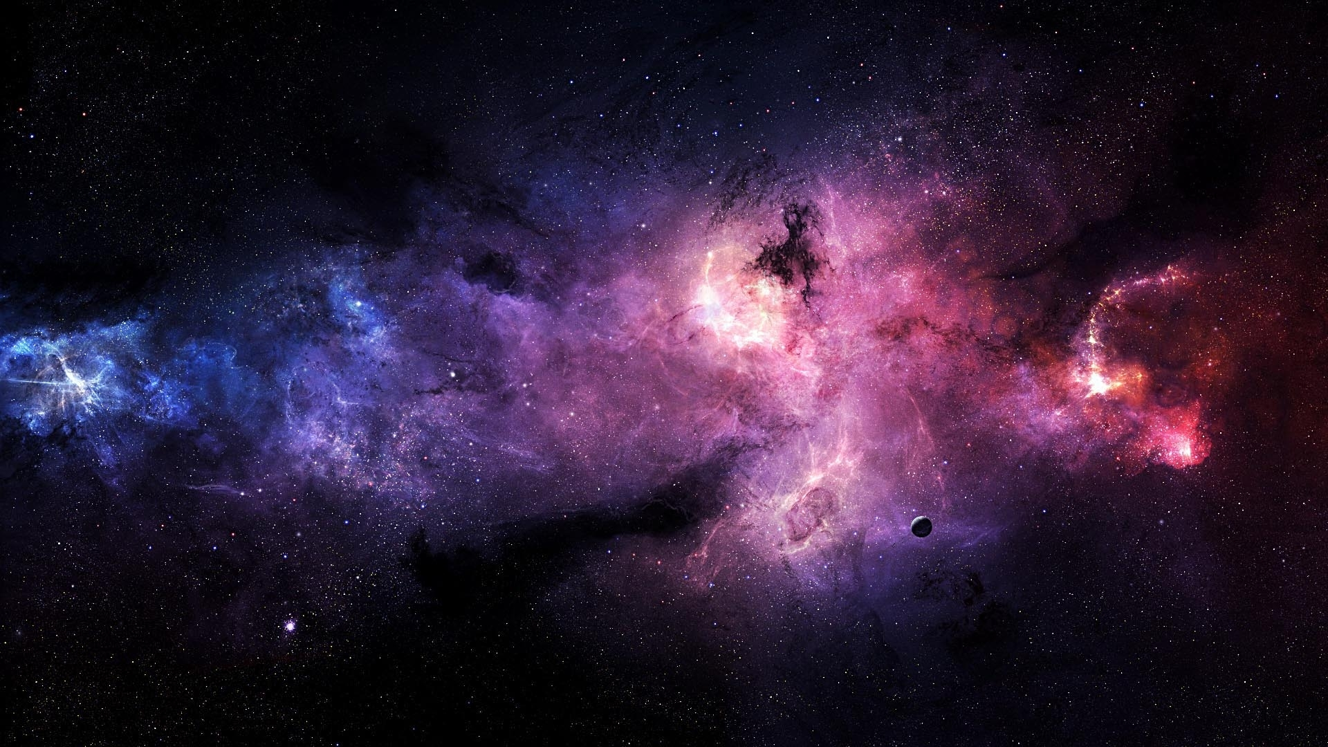 free purple galaxy wallpaper high definition « long wallpapers