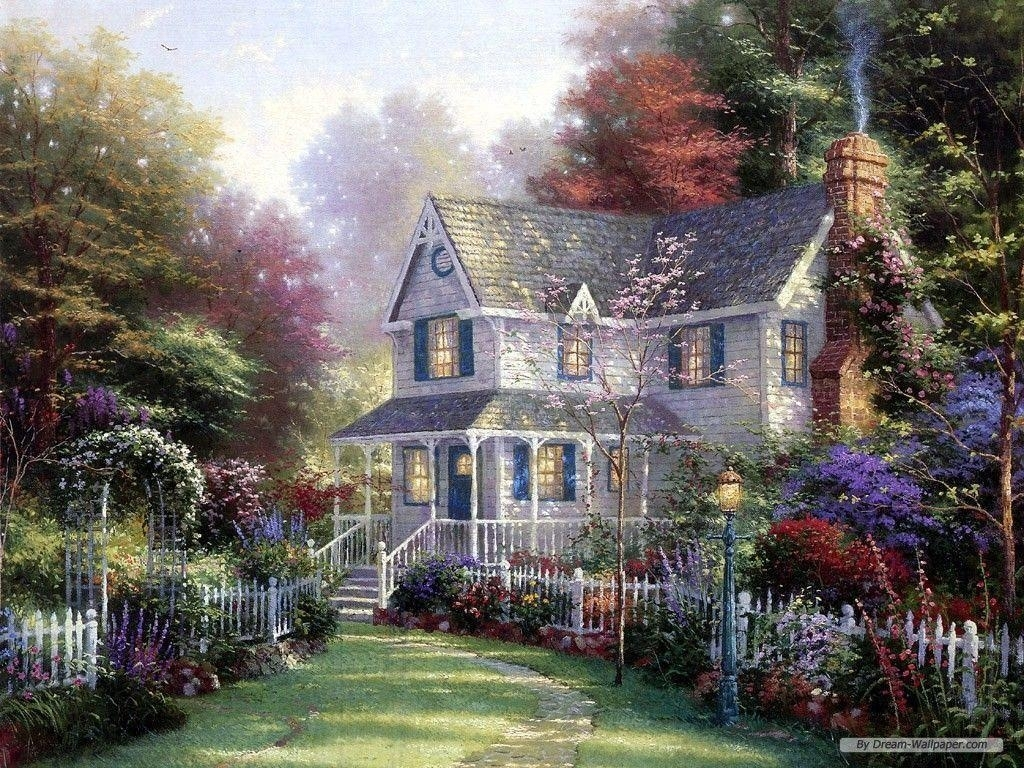 free thomas kinkade wallpapers for desktop - wallpaper cave