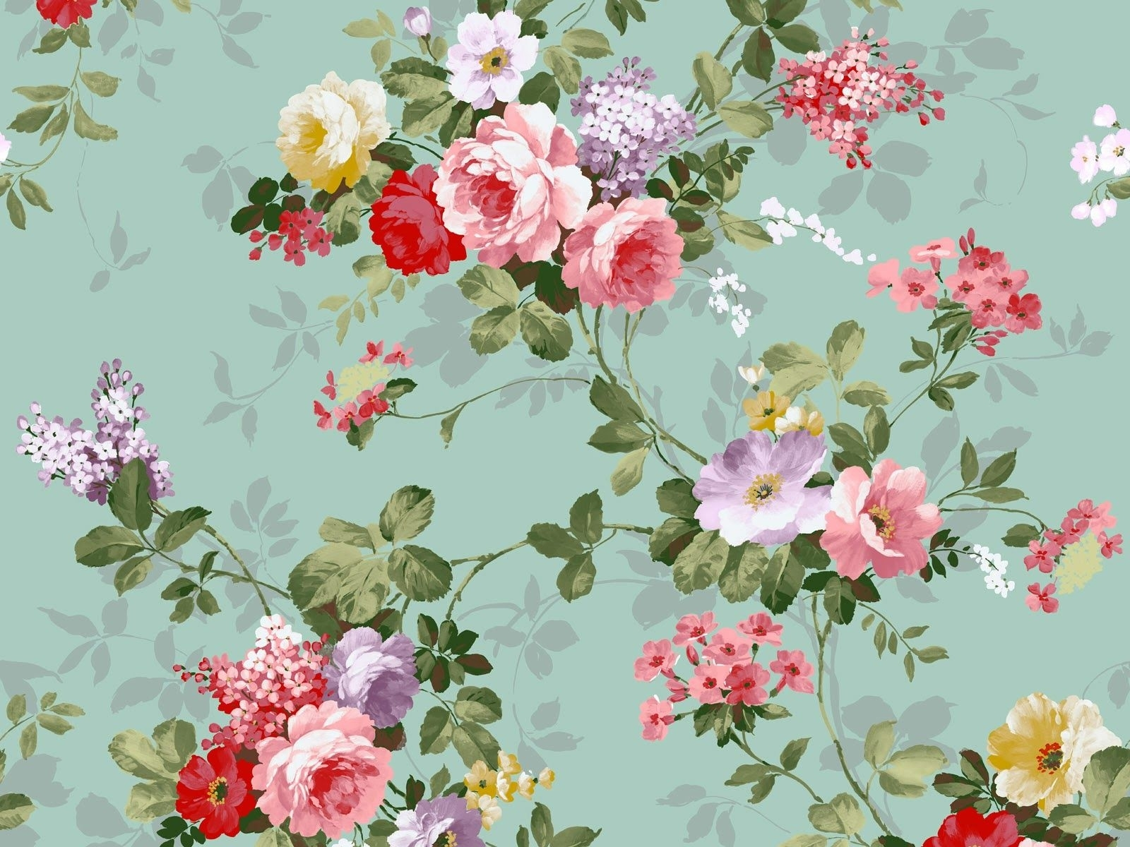 free vintage flower wallpaper high quality « long wallpapers