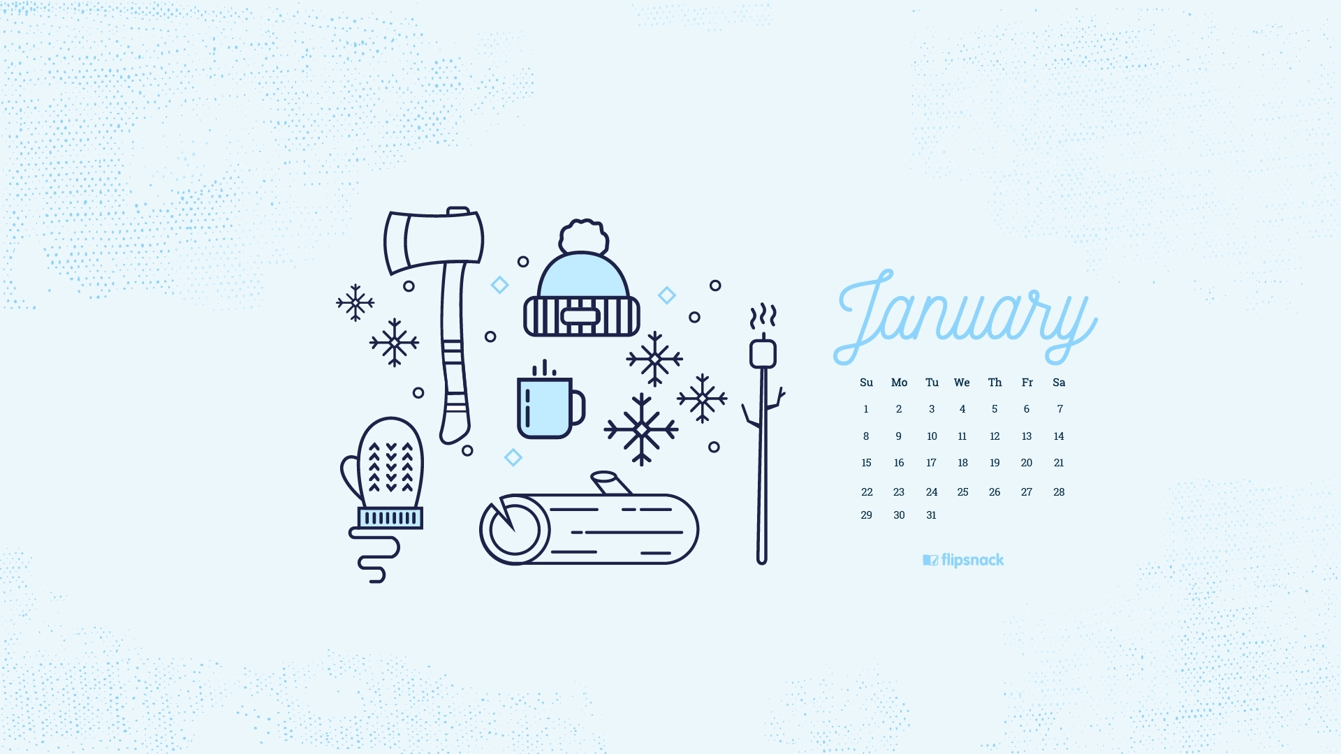 freebie: january 2017 wallpaper calendar desktop background