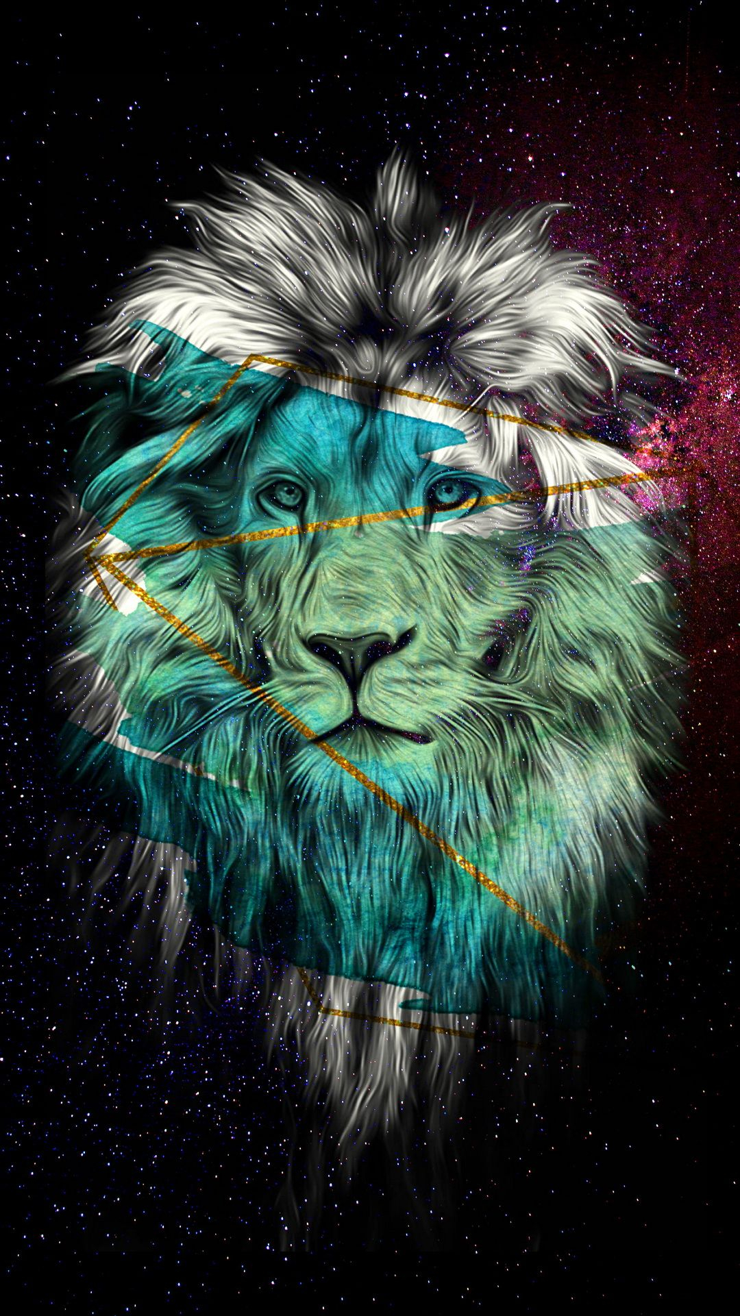 galaxy lion | animal wallpapers in 2019 | lion art, galaxy wallpaper
