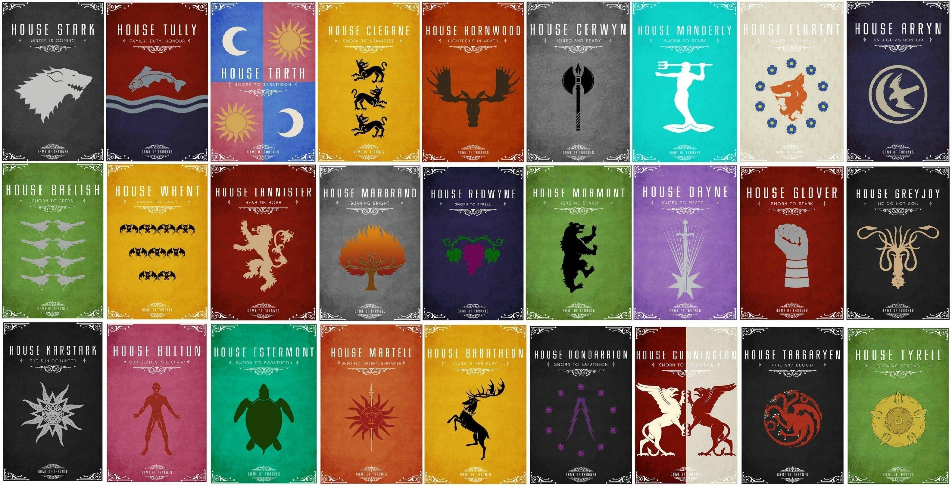 game of thrones – the logos of all houses   wallpapershd   pinterest