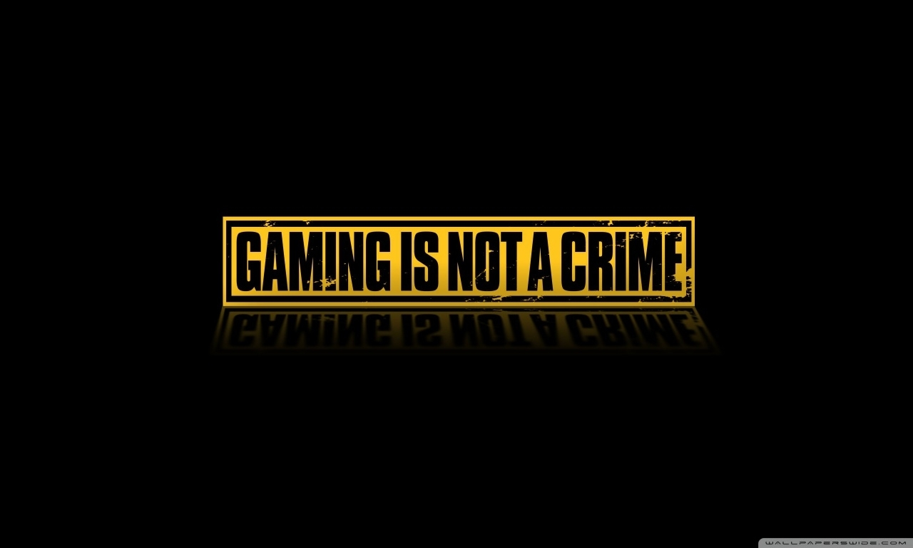 gaming is not a crime ❤ 4k hd desktop wallpaper for 4k ultra hd tv