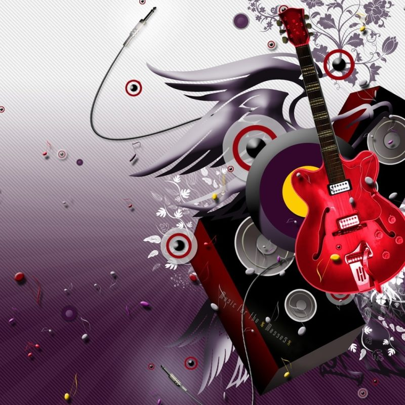 10 New 3D Music Abstract Wallpapers FULL HD 1080p For PC