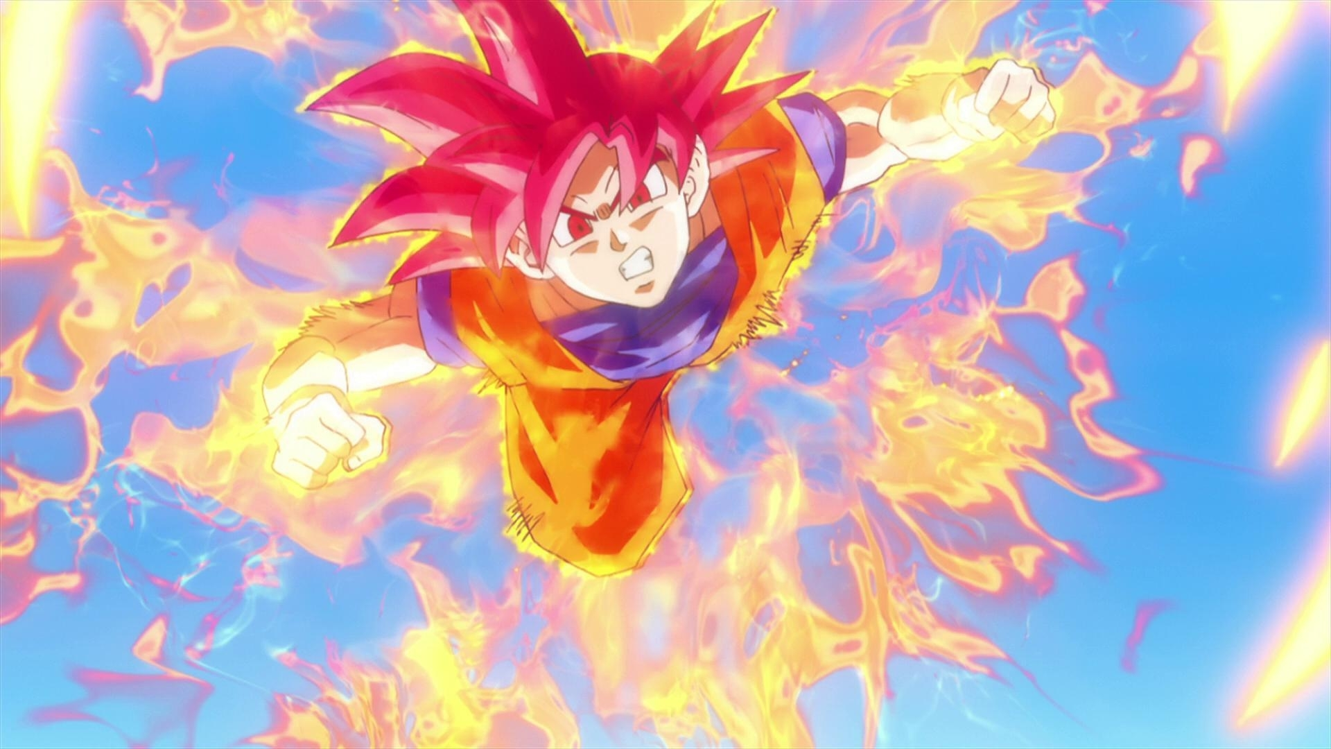 10 Ideal And Most Recent Super Saiyan God Wallpaper For Desktop With FULL HD 1080p 1920 X 1080 FREE DOWNLOAD