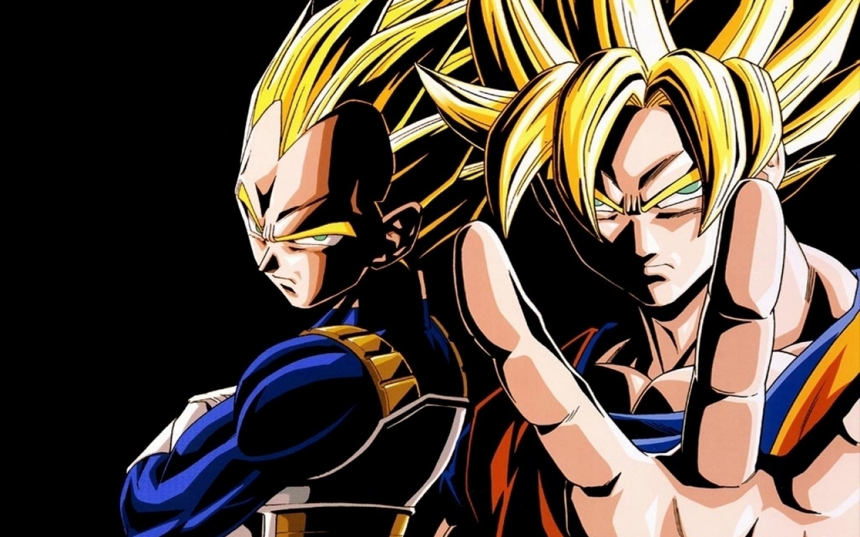 goku & vegeta wallpaper and background image | 1680x1050 | id:197837