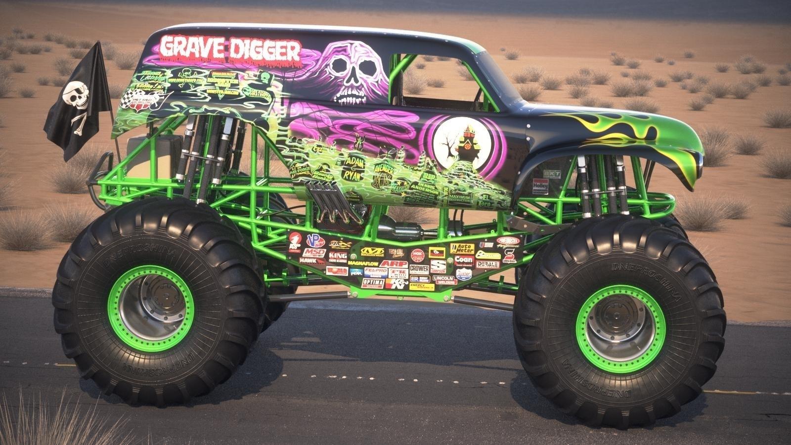 grave digger monster truck desert