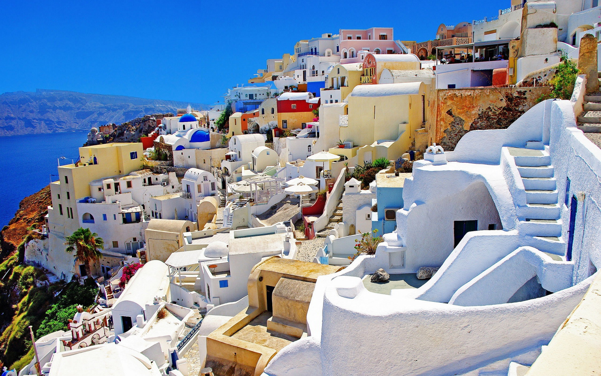 greece widescreen hd wallpaper, background images