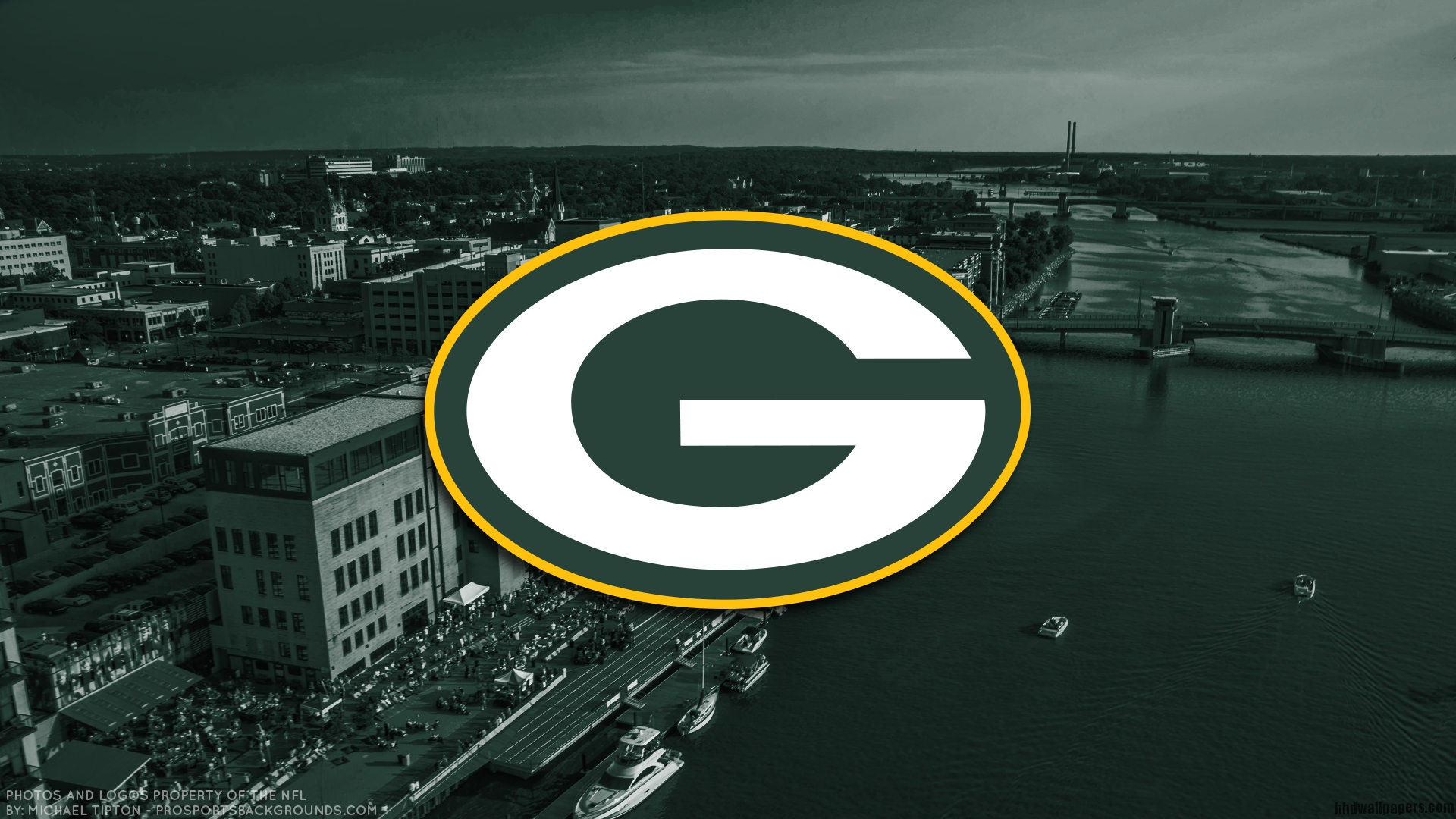 green bay packers football logo wallpaper - download hd wallpapers