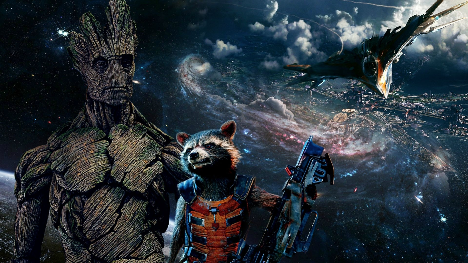 groot and rocket wallpaper [1920x1080] - imgur