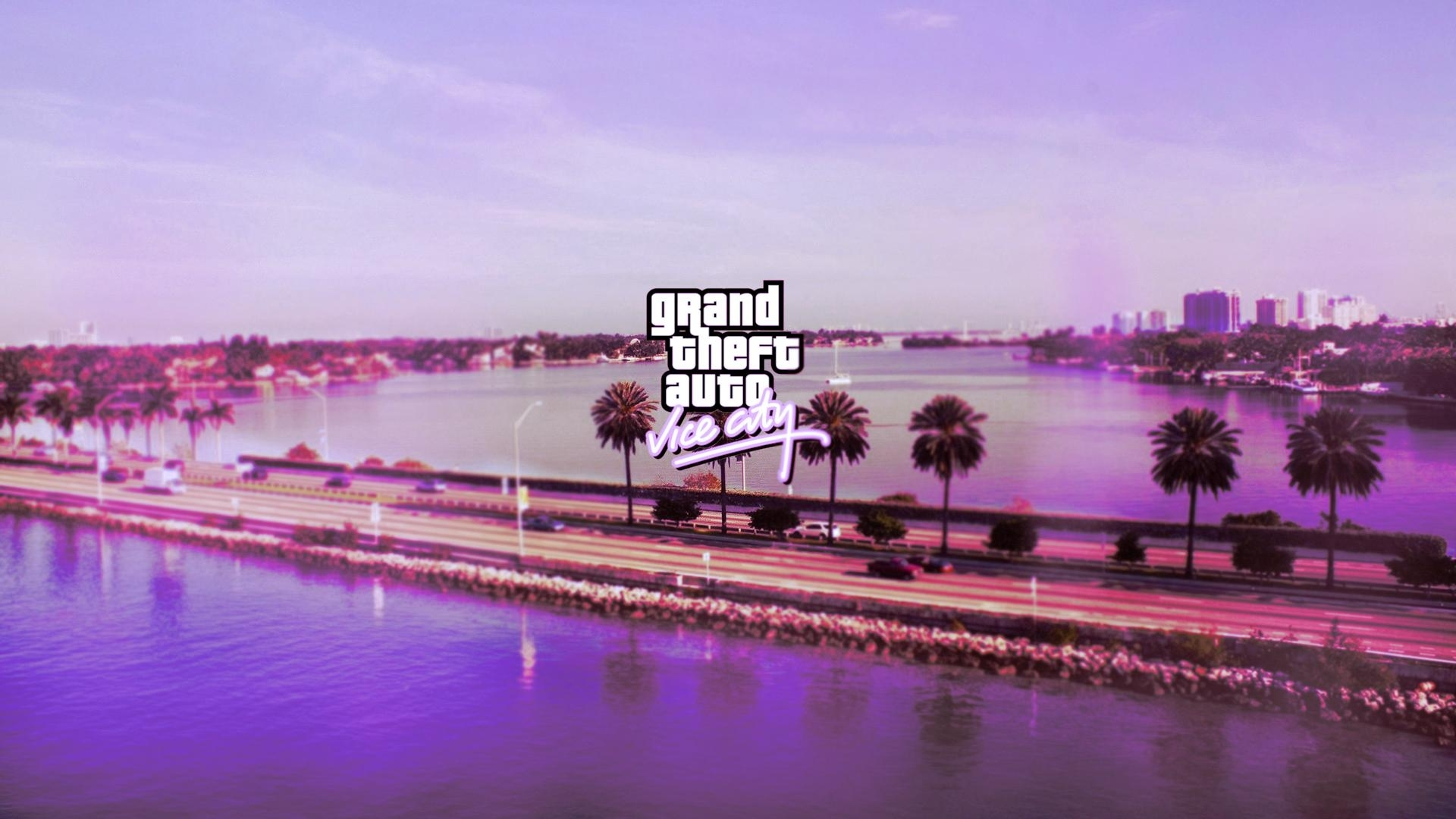 gta vice city wallpaper i made for my friend - imgur