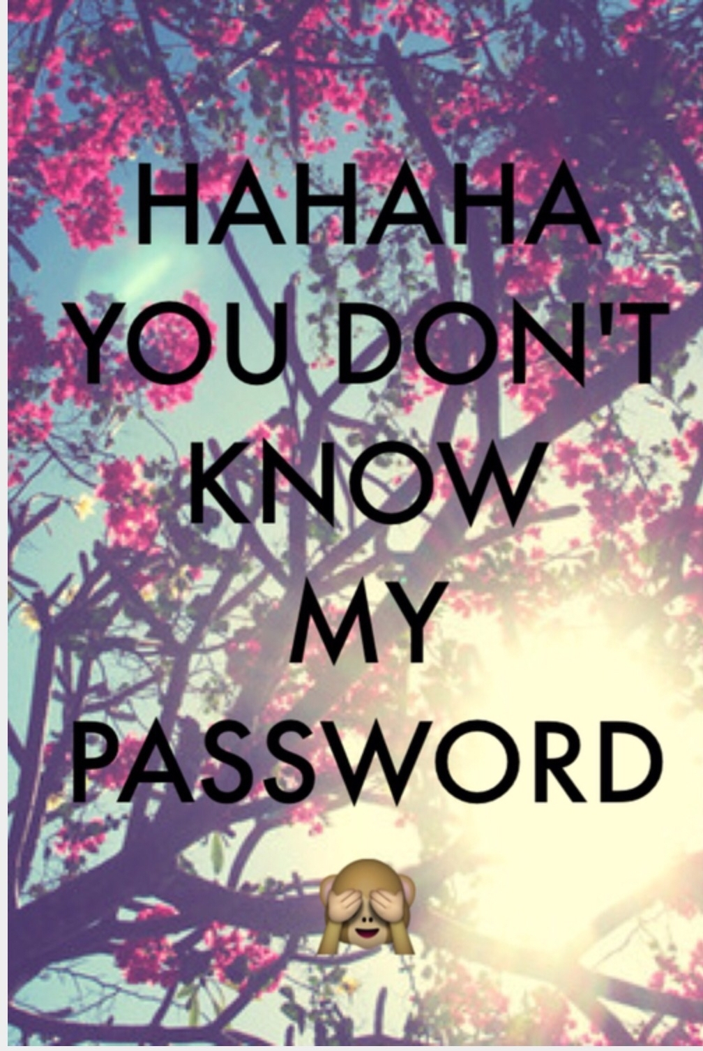 hahaha you don't know my password | backgrounds | pinterest