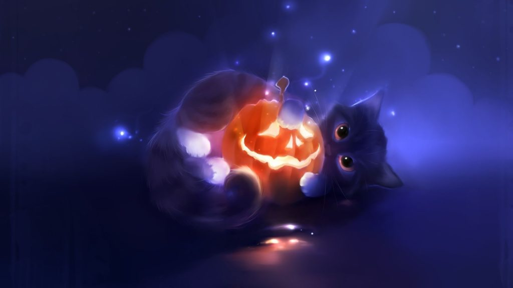 10 New Cute Cat Halloween Backgrounds FULL HD 1920×1080 For PC Desktop 2018 free download halloween cat wallpapers wallpaper cave best games wallpapers 1024x576