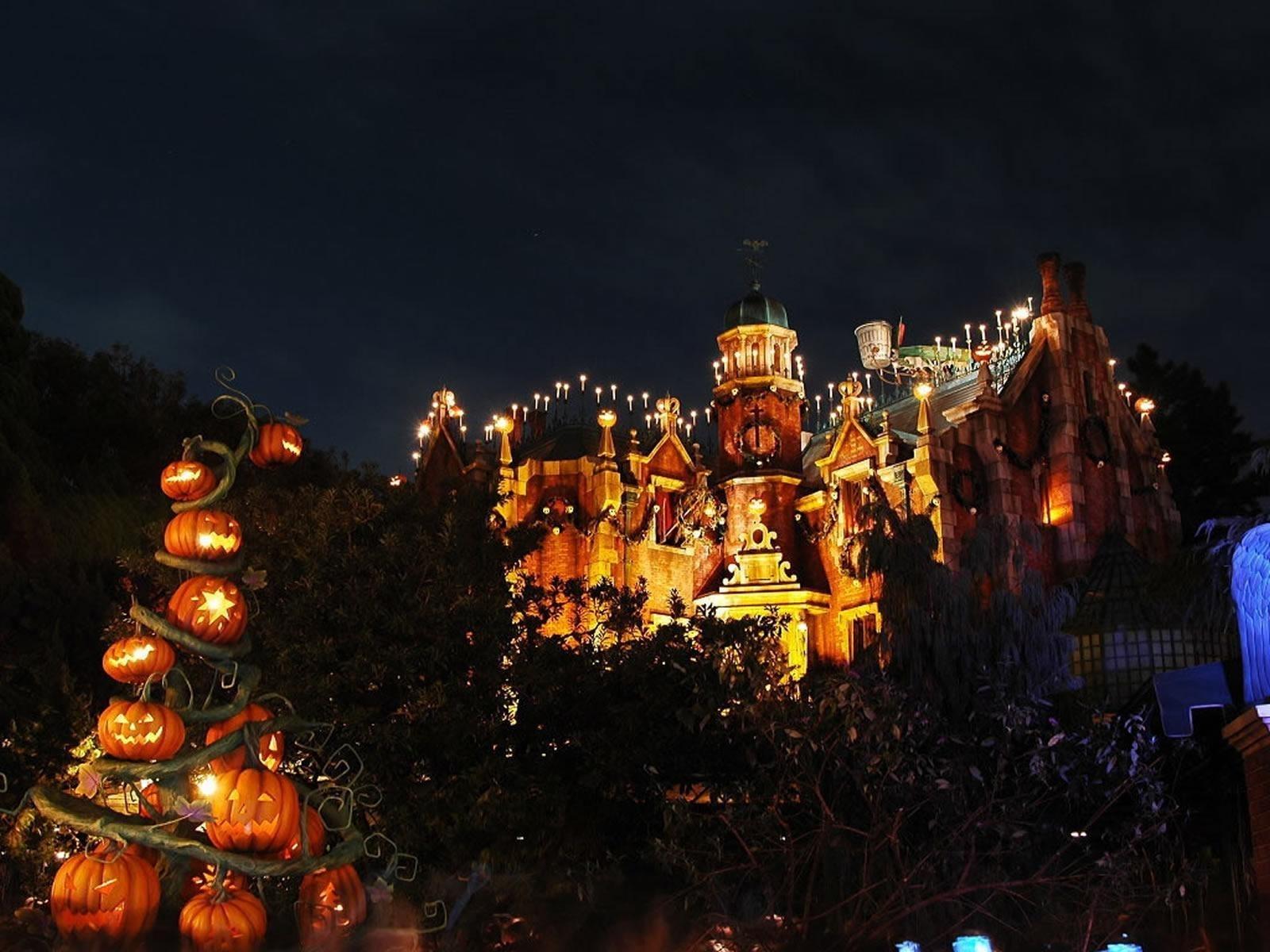 halloween haunted mansion hd desktop wallpaper : widescreen : high